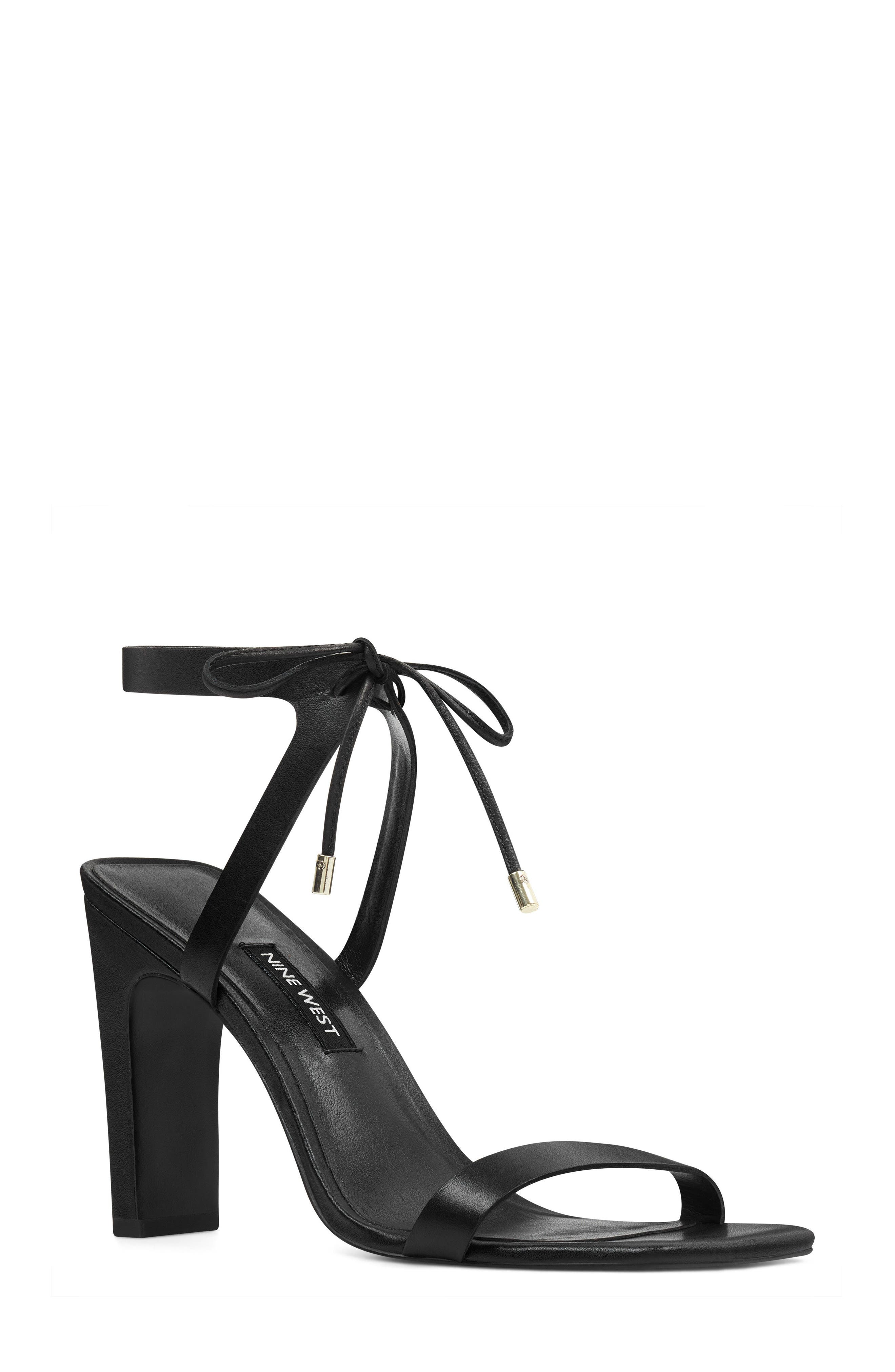 Longitano Squared Toe Sandal,                         Main,                         color, BLACK LEATHER
