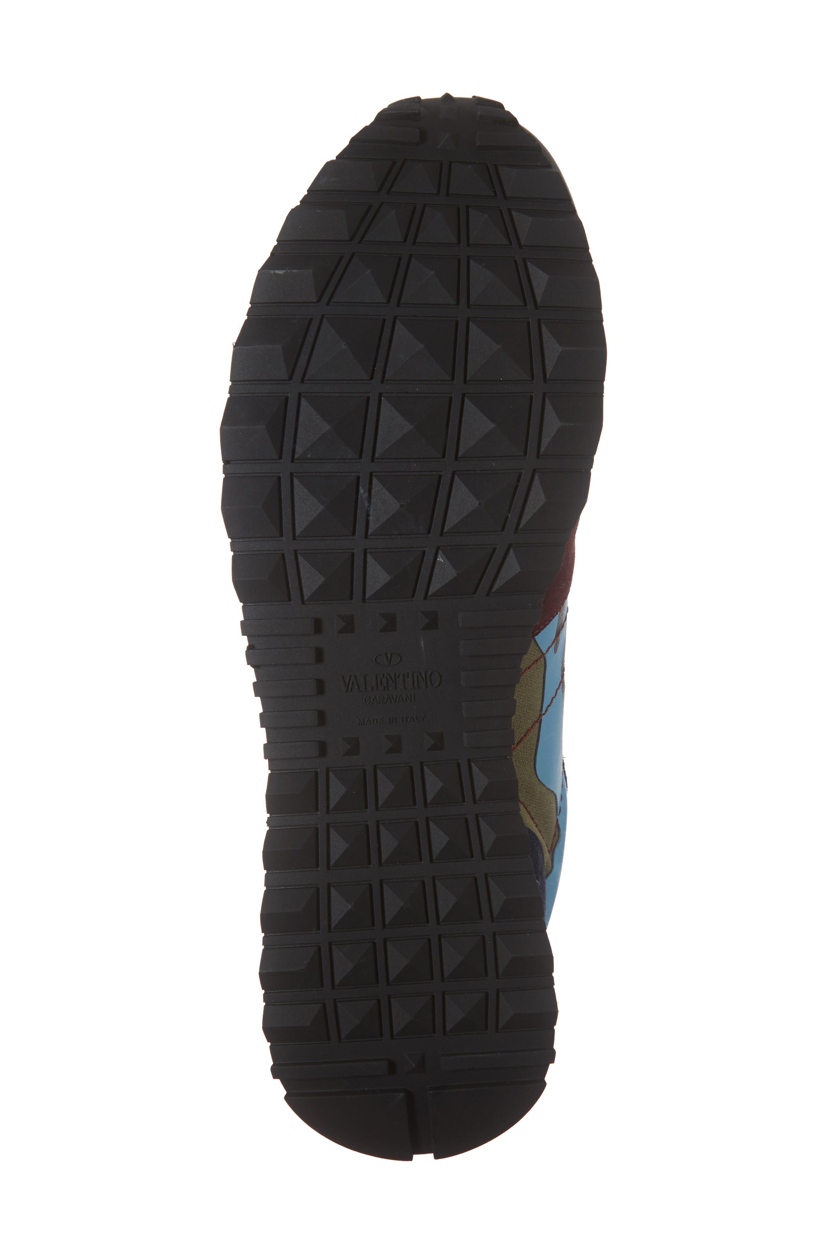 Camo Rockrunner Sneaker,                             Alternate thumbnail 6, color,                             LIGHT BLUE/ BORDEAUX