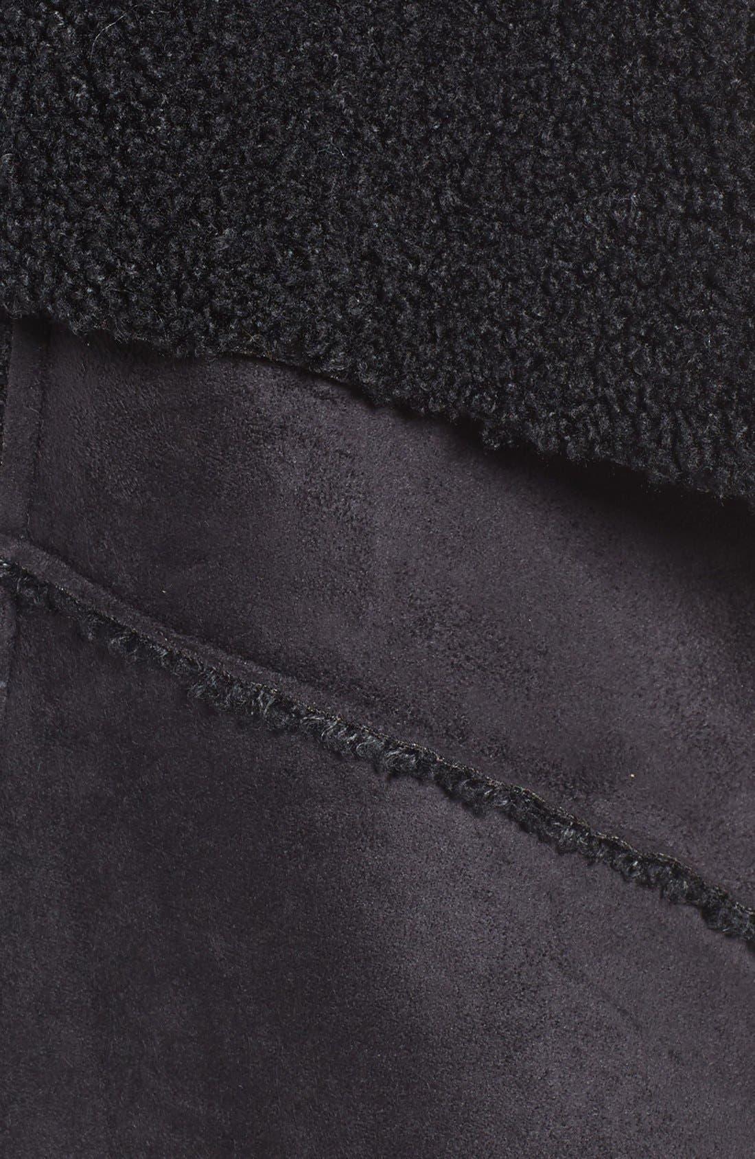 Goslett Faux Shearling Vest,                             Alternate thumbnail 5, color,                             001