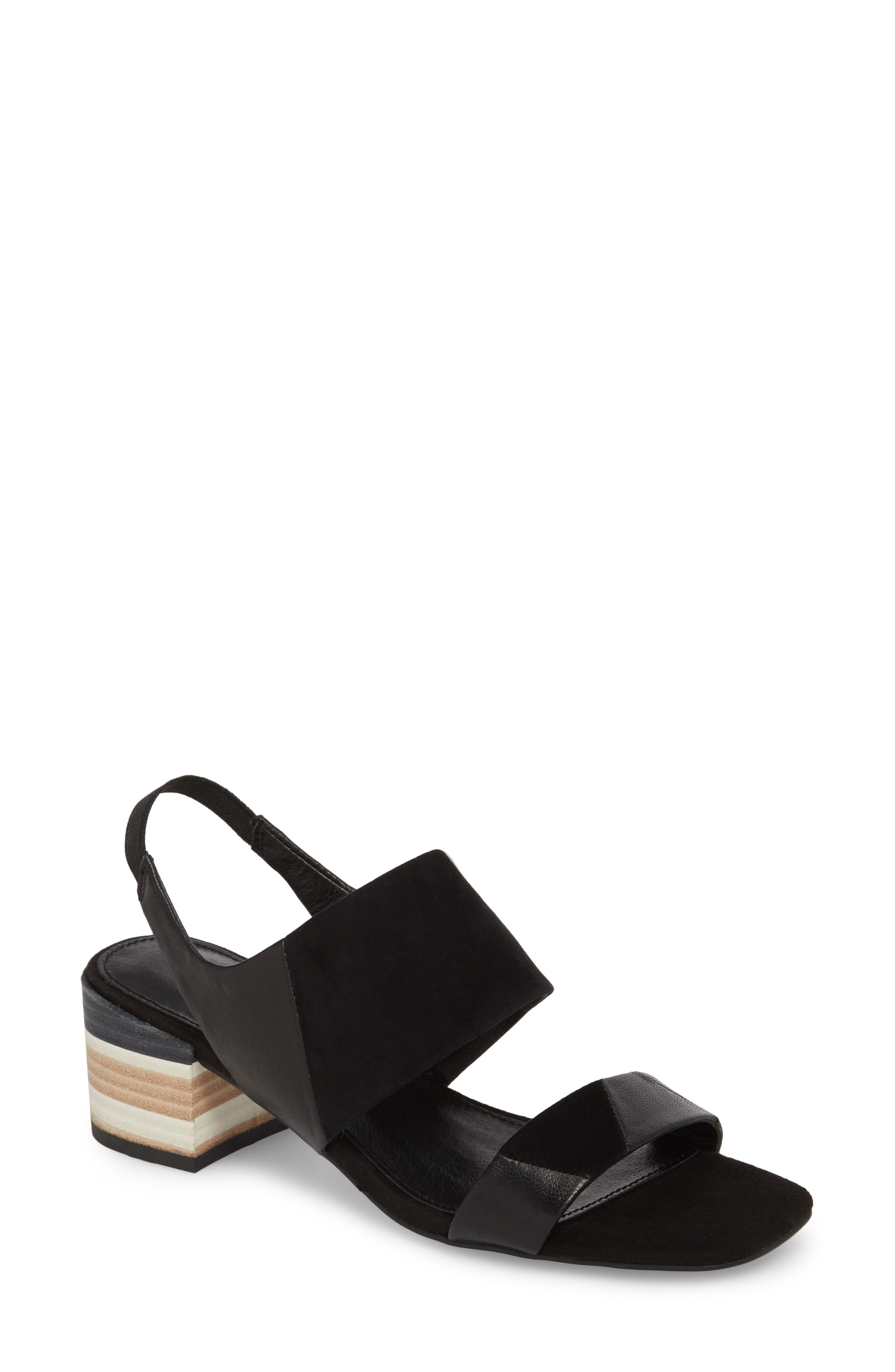 Shiloh Block Heel Sandal, Main, color, 001
