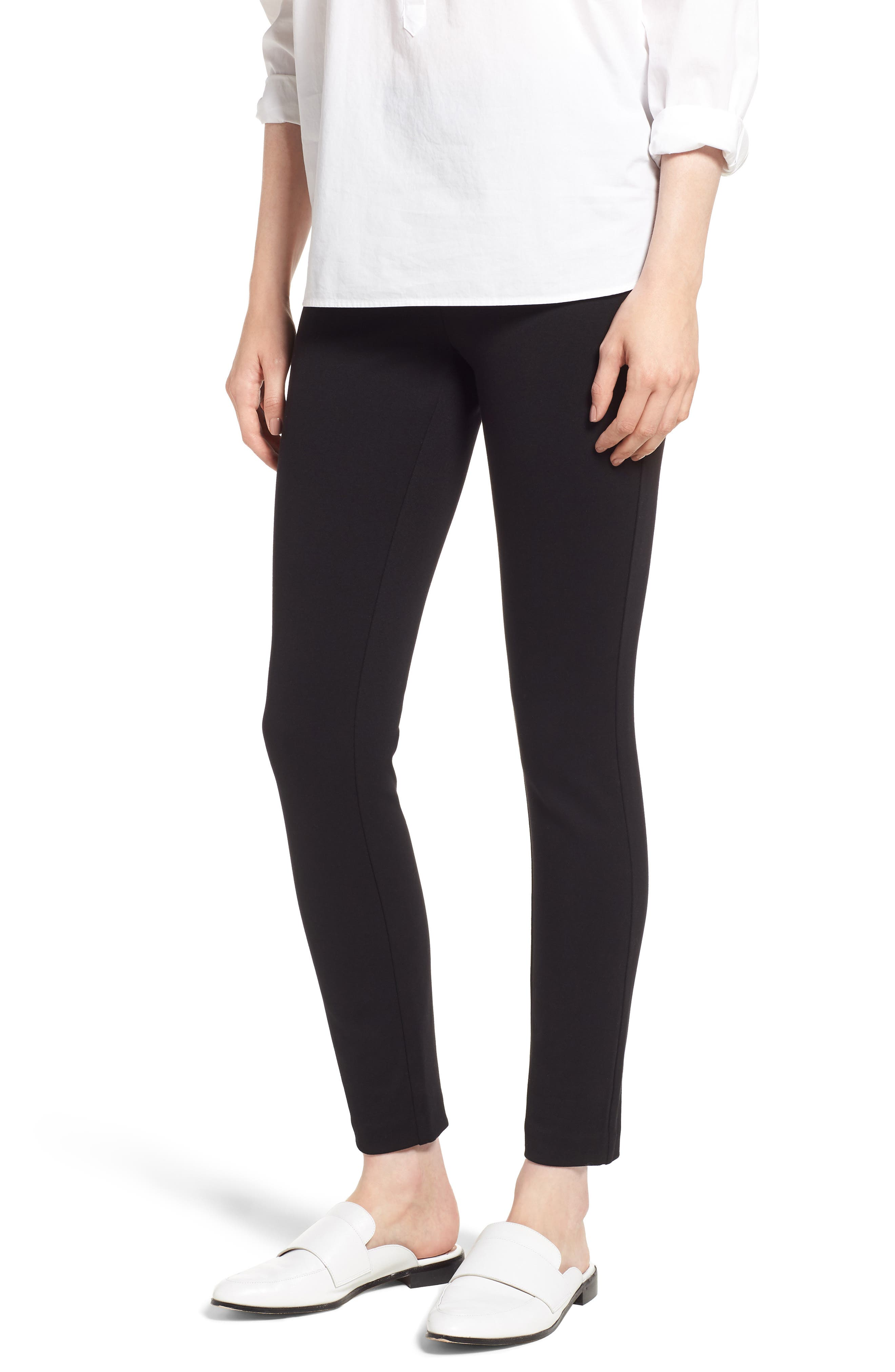 Any Day Stretch Ponte Pants,                             Main thumbnail 1, color,                             001