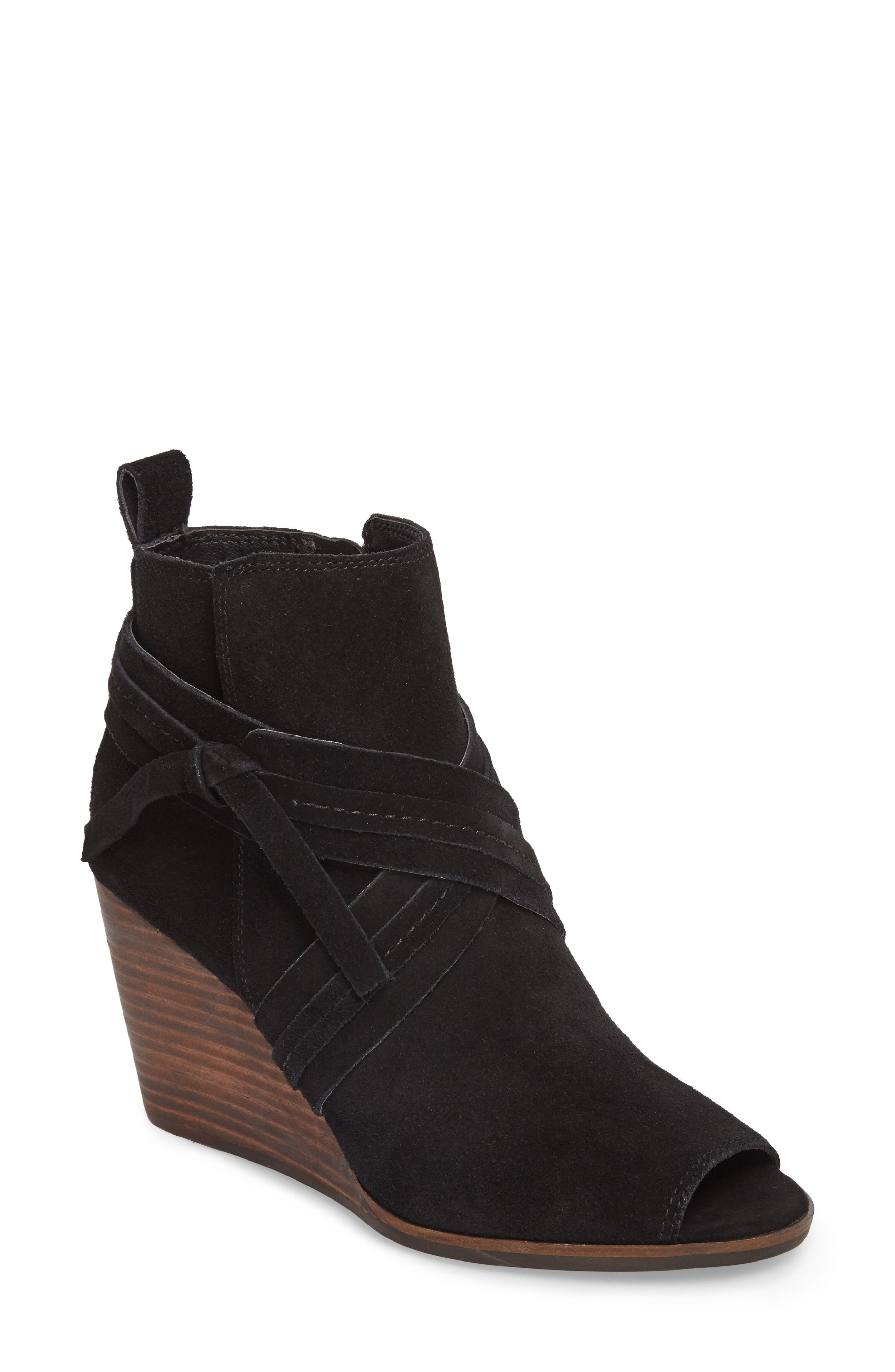 Udom Wedge Bootie,                             Main thumbnail 1, color,                             001