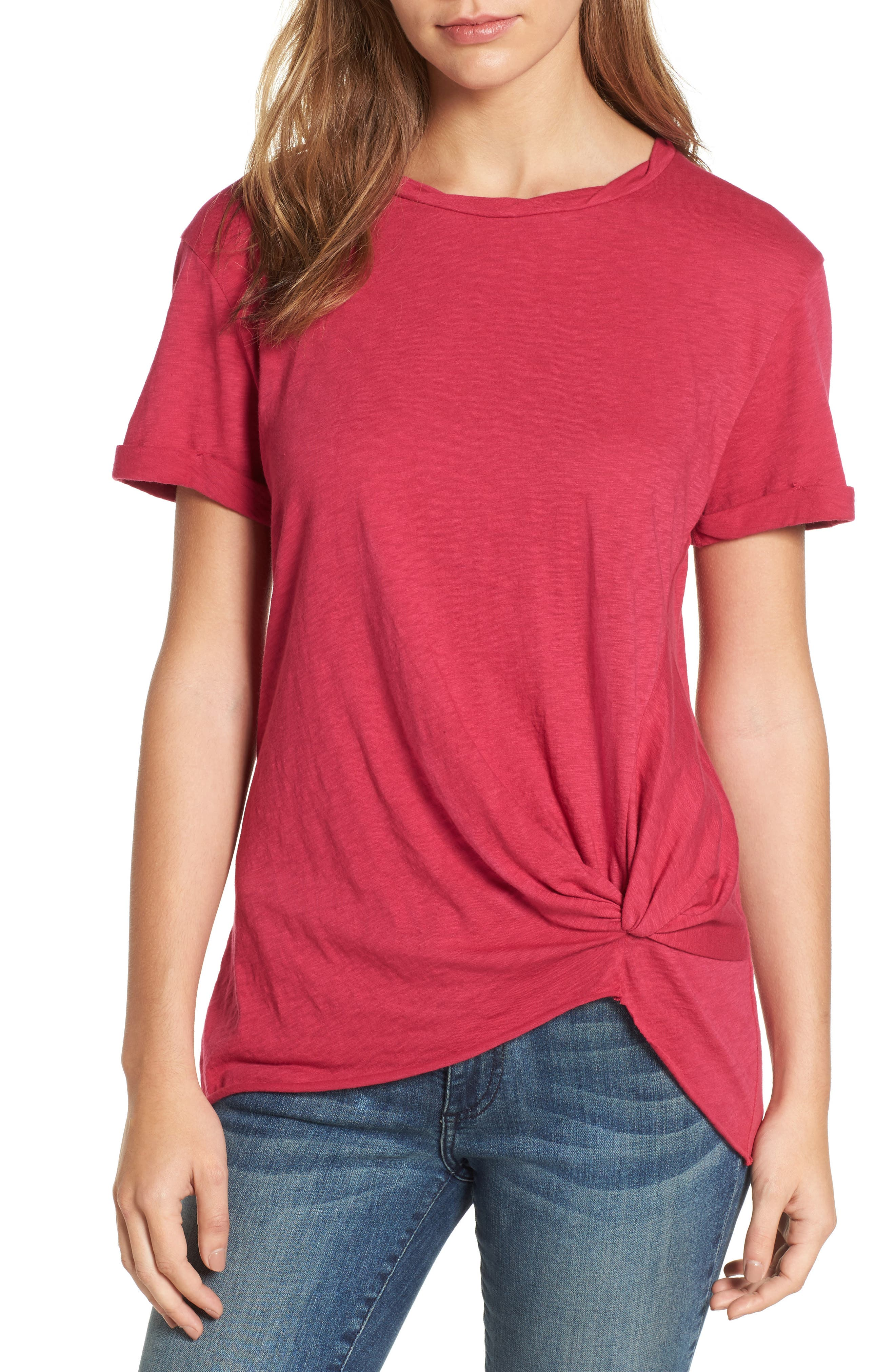 Knotted Tee,                             Main thumbnail 10, color,