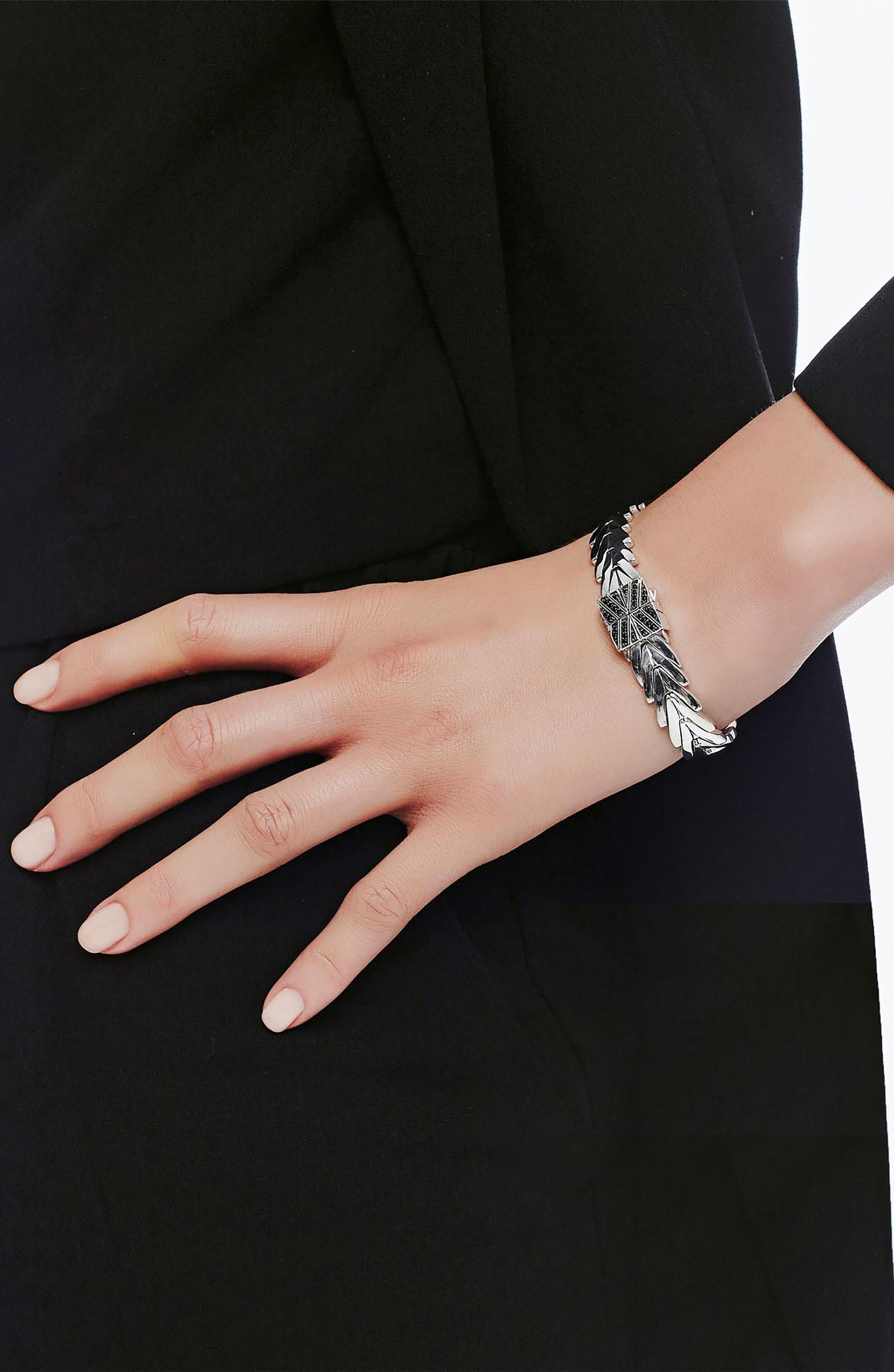 Modern Chain Lava Bracelet,                             Alternate thumbnail 2, color,                             SILVER