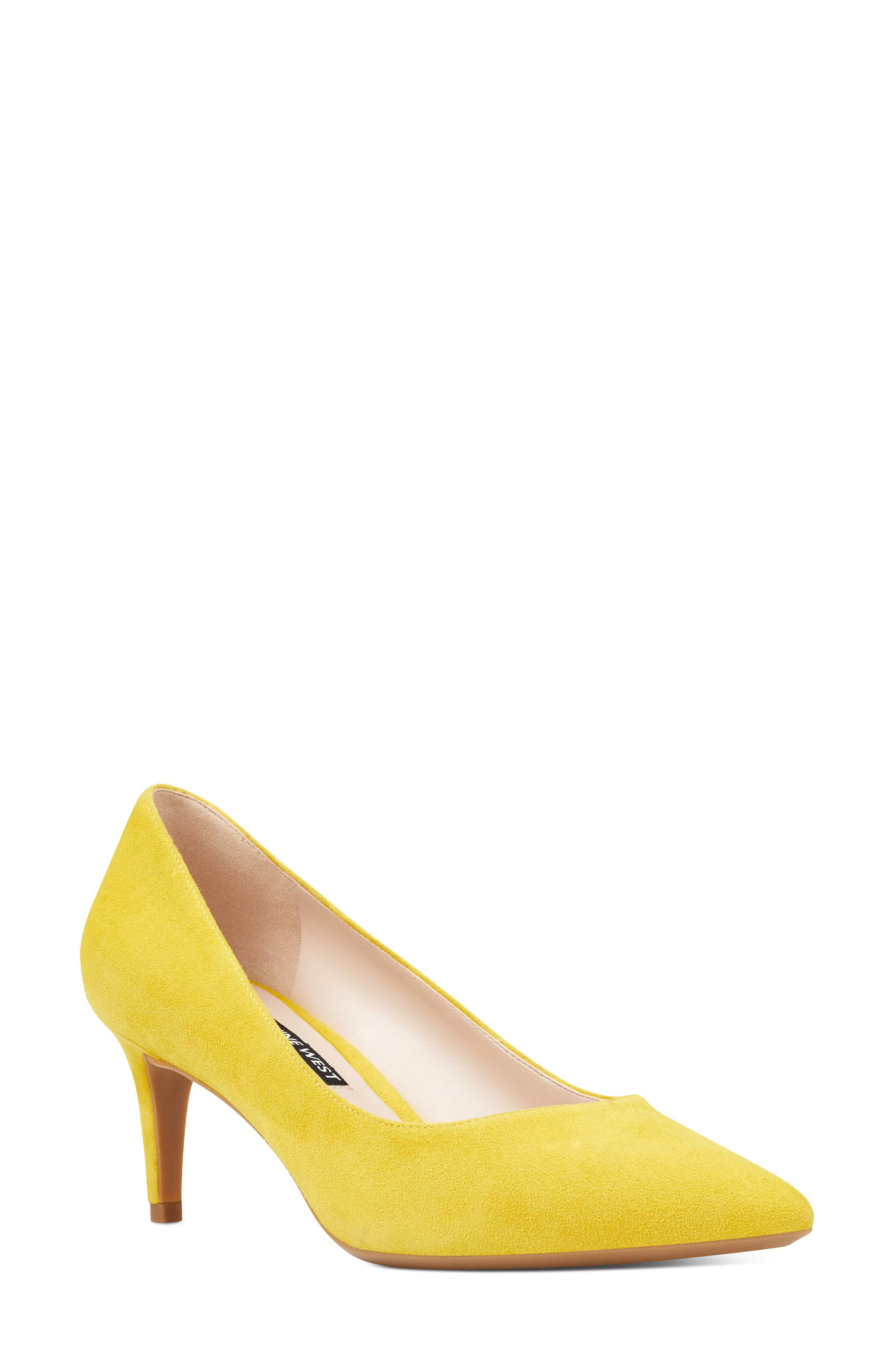 Soho Pointy Toe Pump,                         Main,                         color, YELLOW SUEDE