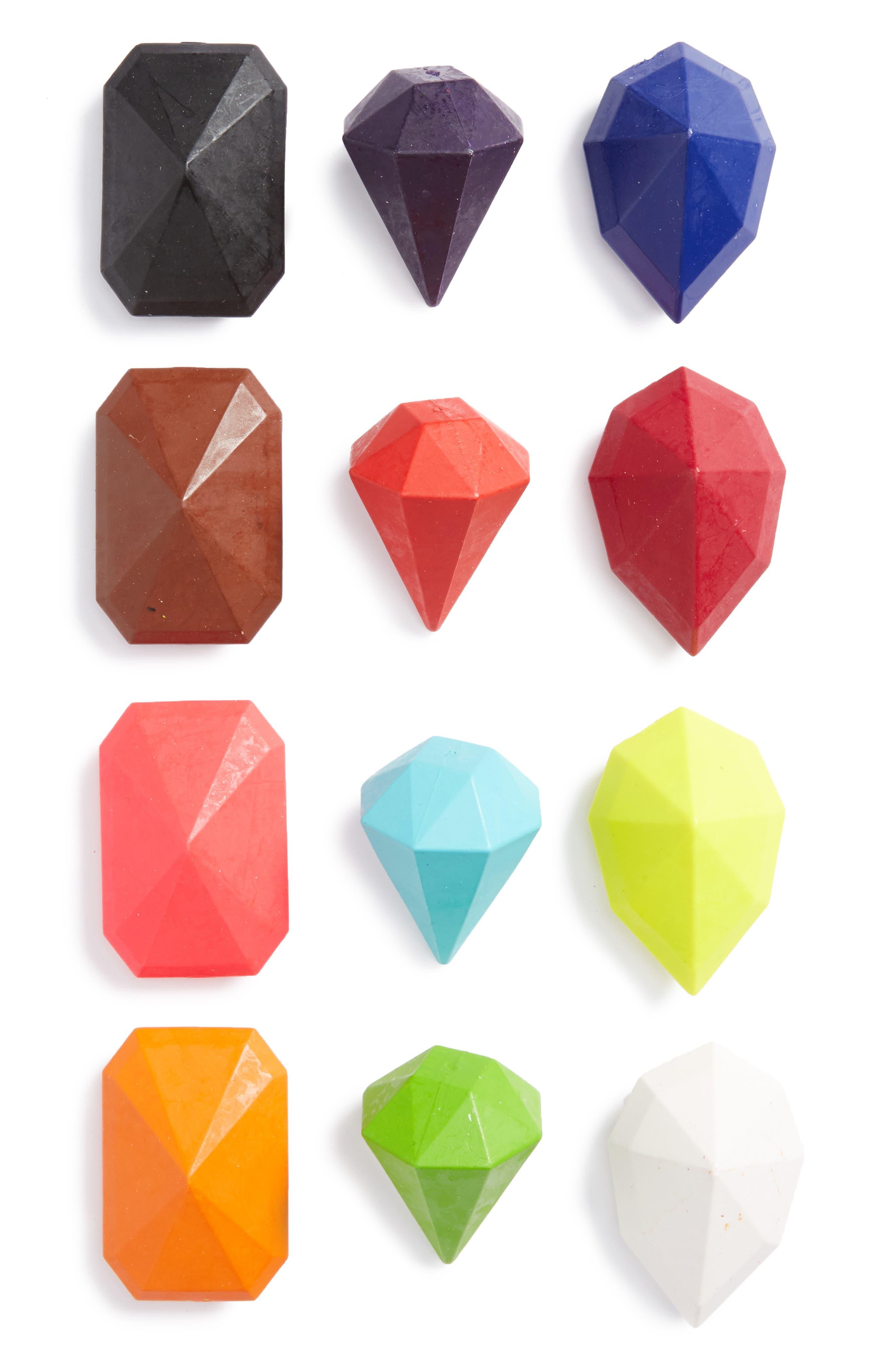 12-Pack Gem Crayons,                         Main,                         color, 100