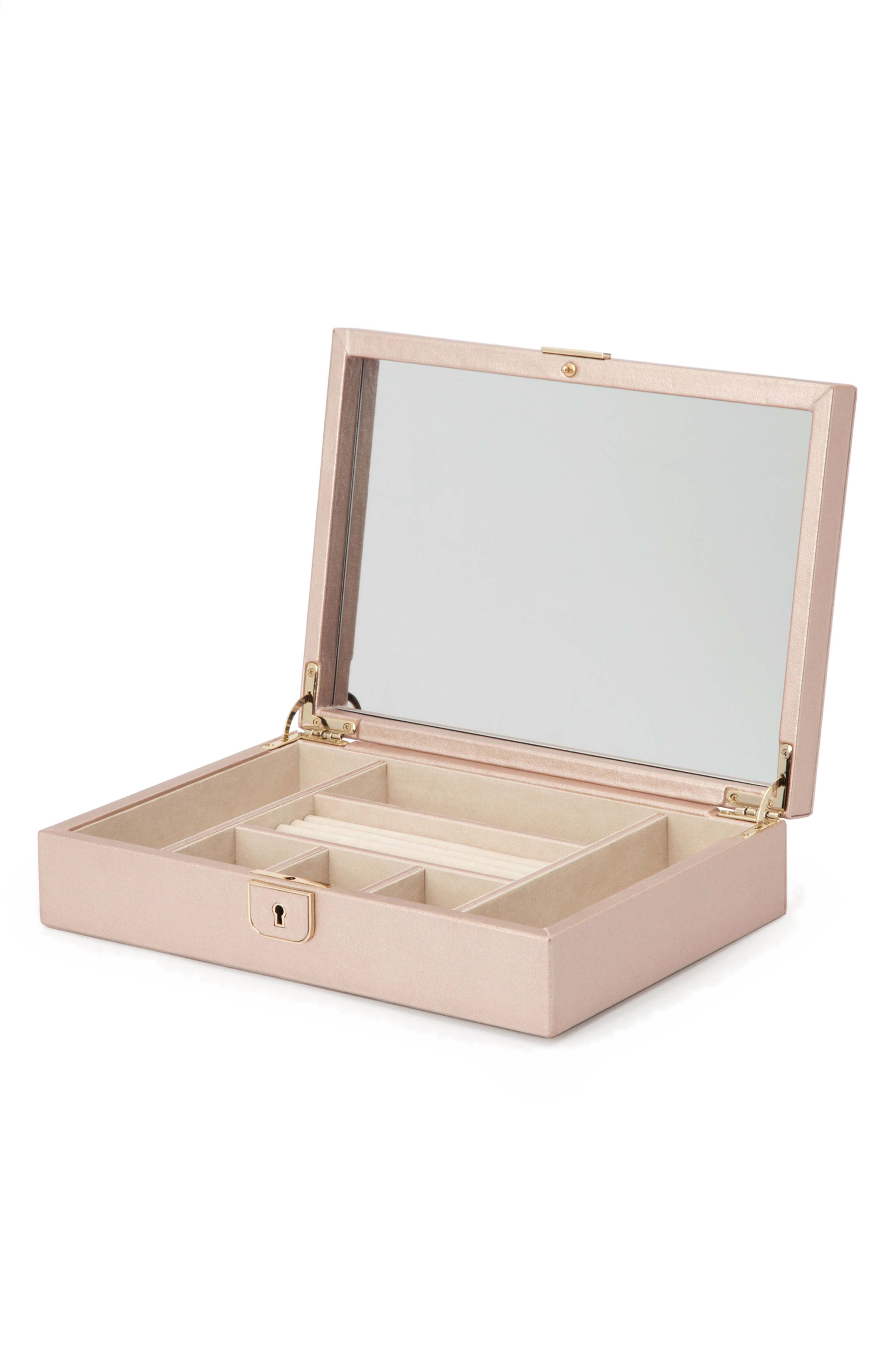 Palermo Medium Jewelry Box,                             Alternate thumbnail 3, color,                             ROSE GOLD