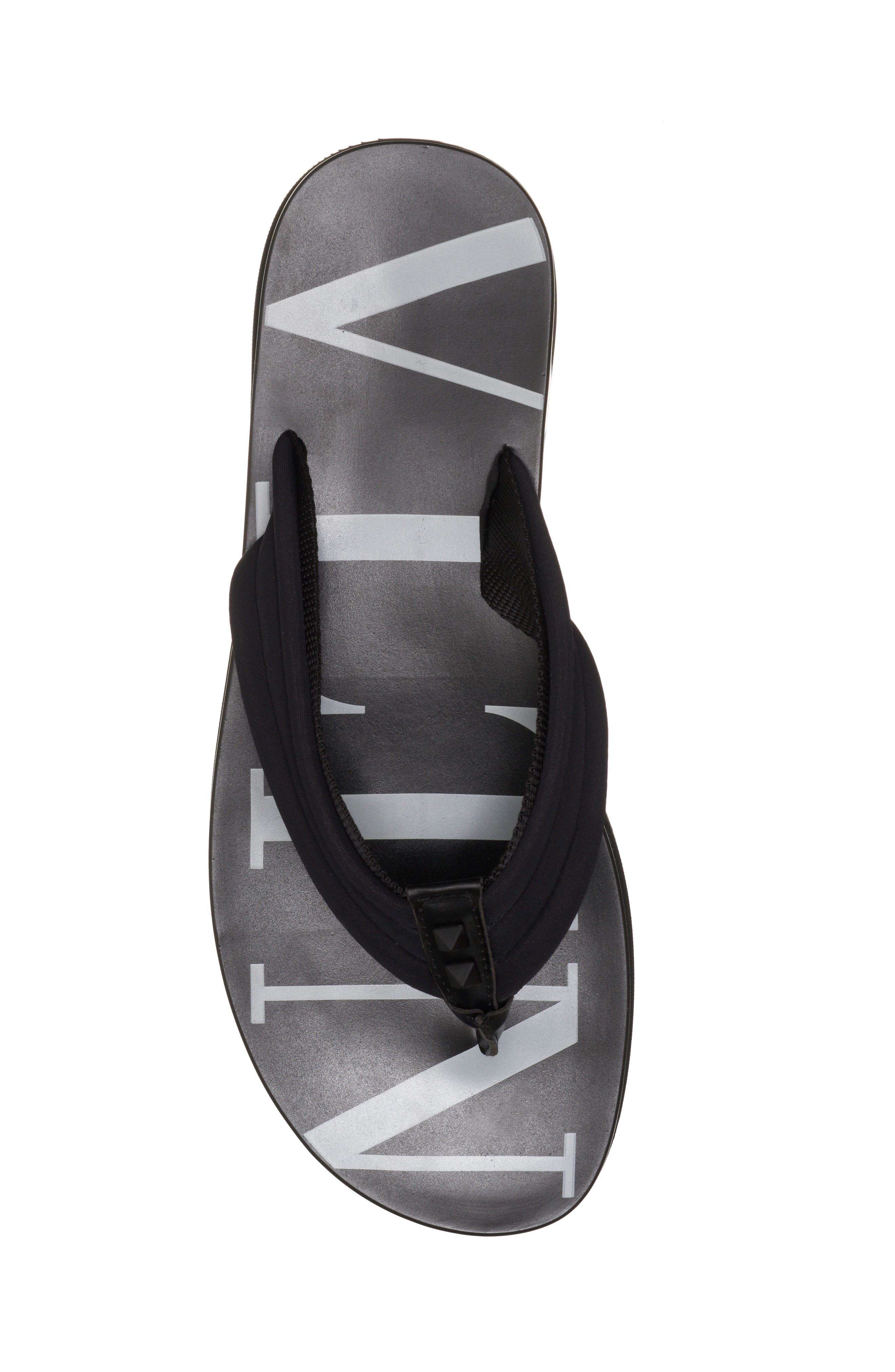 Sandal,                             Alternate thumbnail 5, color,                             BLACK/ WHITE