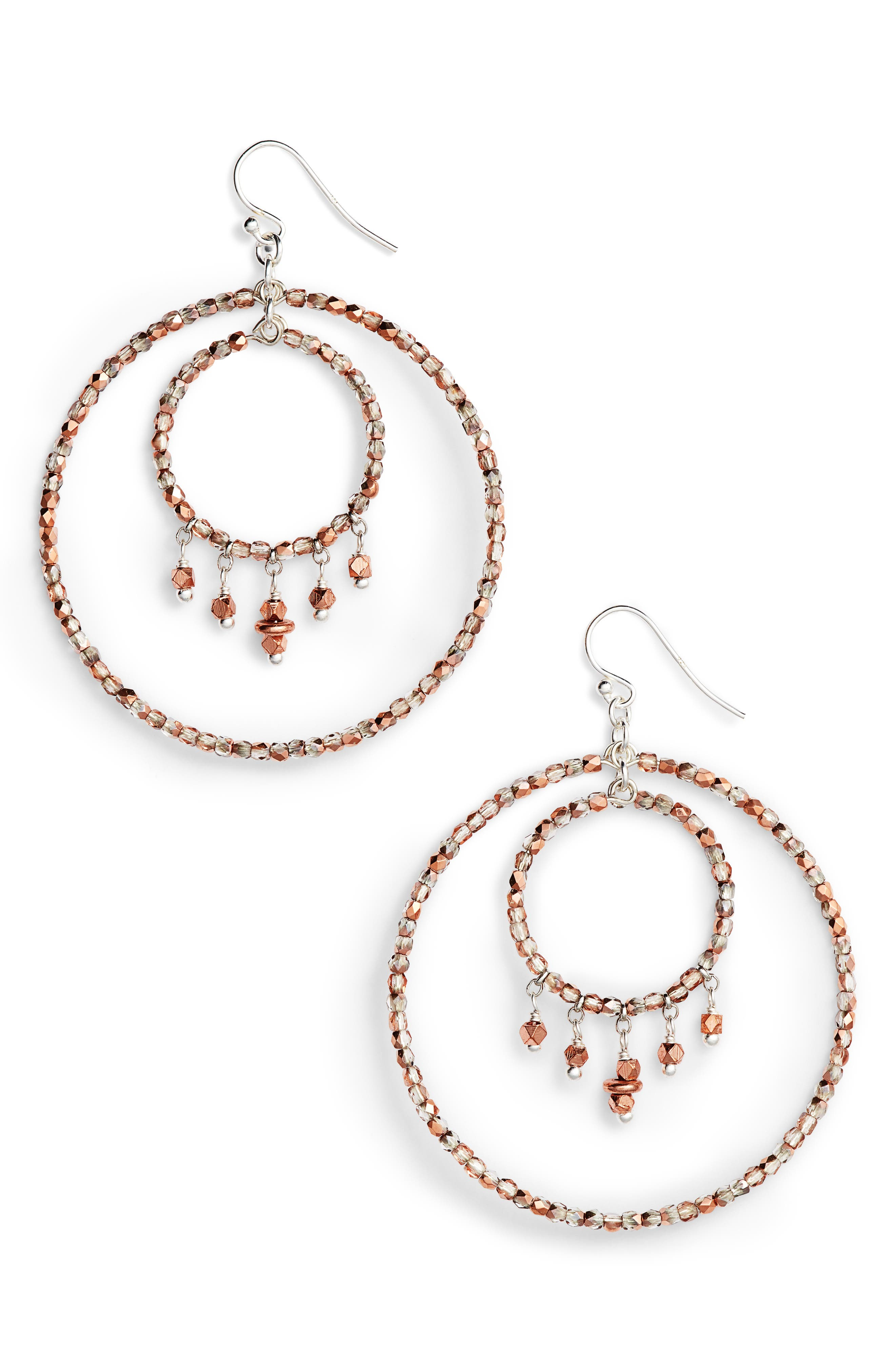 Double Hoop Earrings,                         Main,                         color, 220
