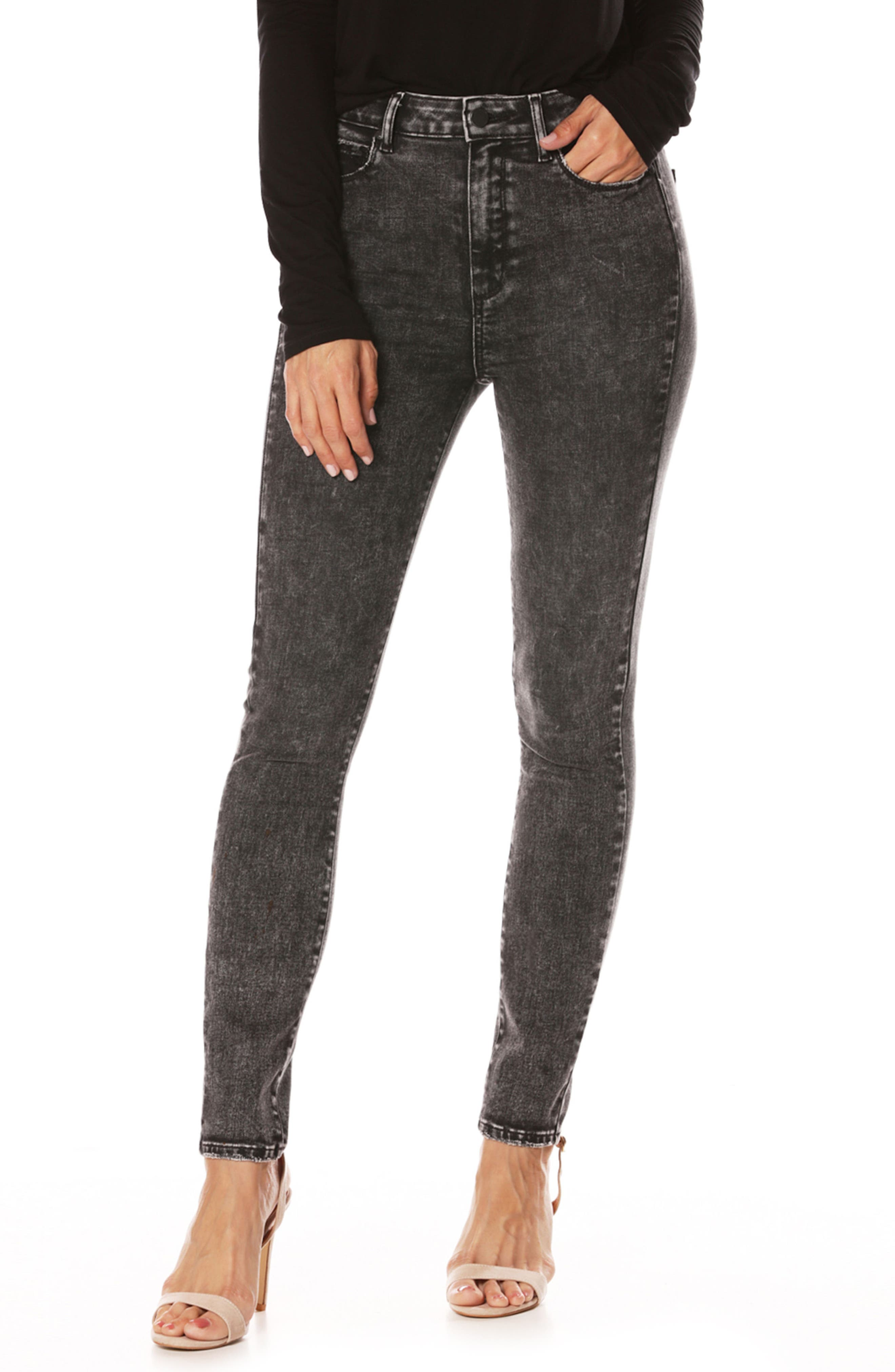 Margot High Waist Ultra Skinny Jeans,                             Main thumbnail 1, color,                             001