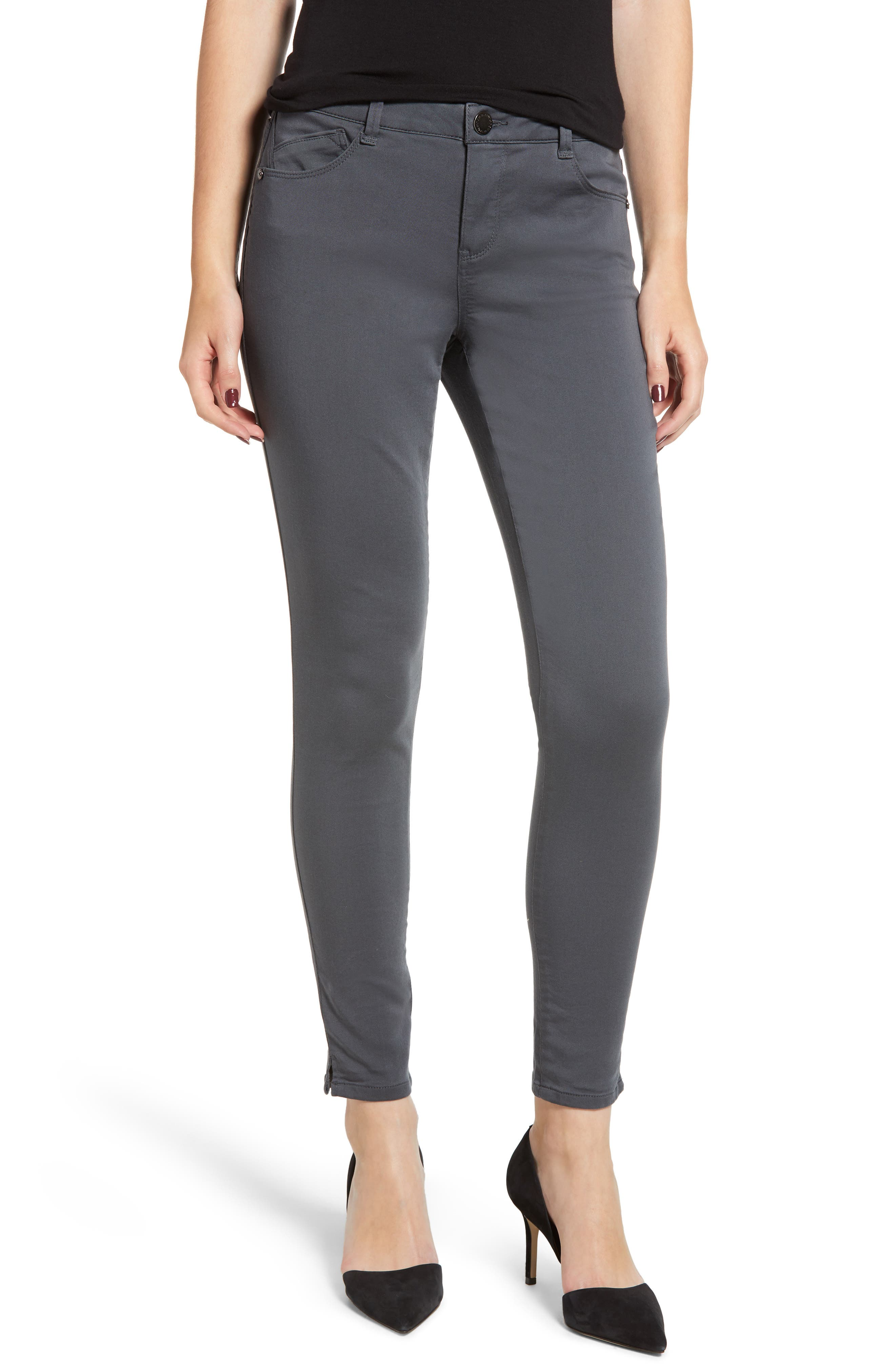 Wit and Wisdom Ab-Solution Ankle Skinny Pants,                         Main,                         color, PEWTER
