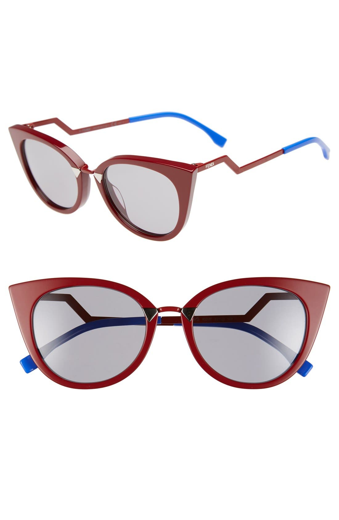 52mm Cat Eye Sunglasses,                             Main thumbnail 1, color,