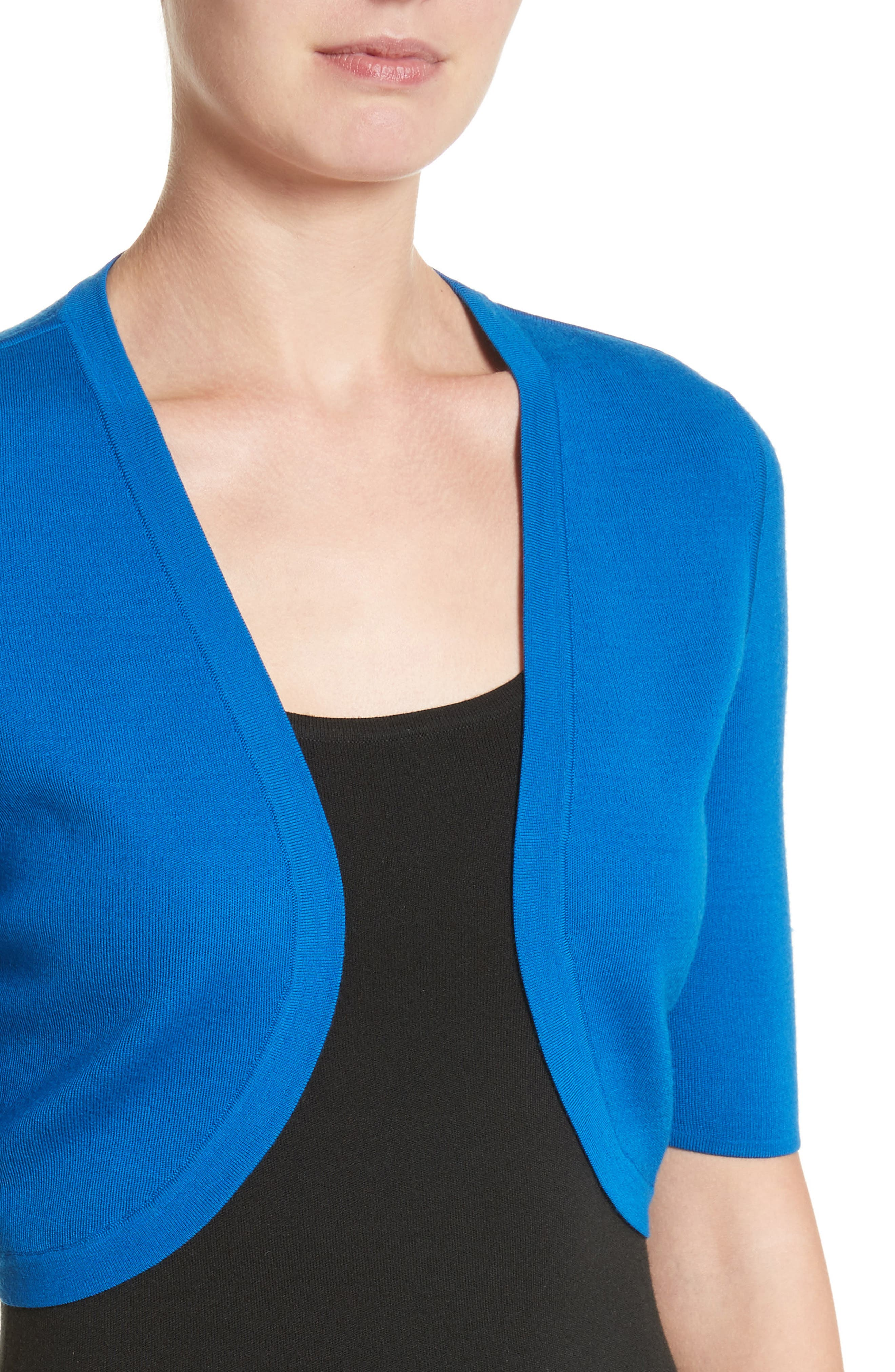 Merino Wool Shrug,                             Alternate thumbnail 4, color,