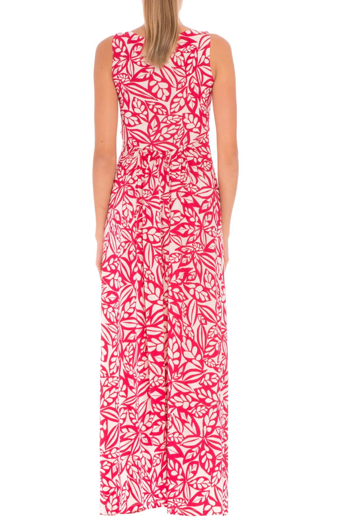 'Miranda' Maternity Maxi Dress,                             Alternate thumbnail 6, color,                             RED