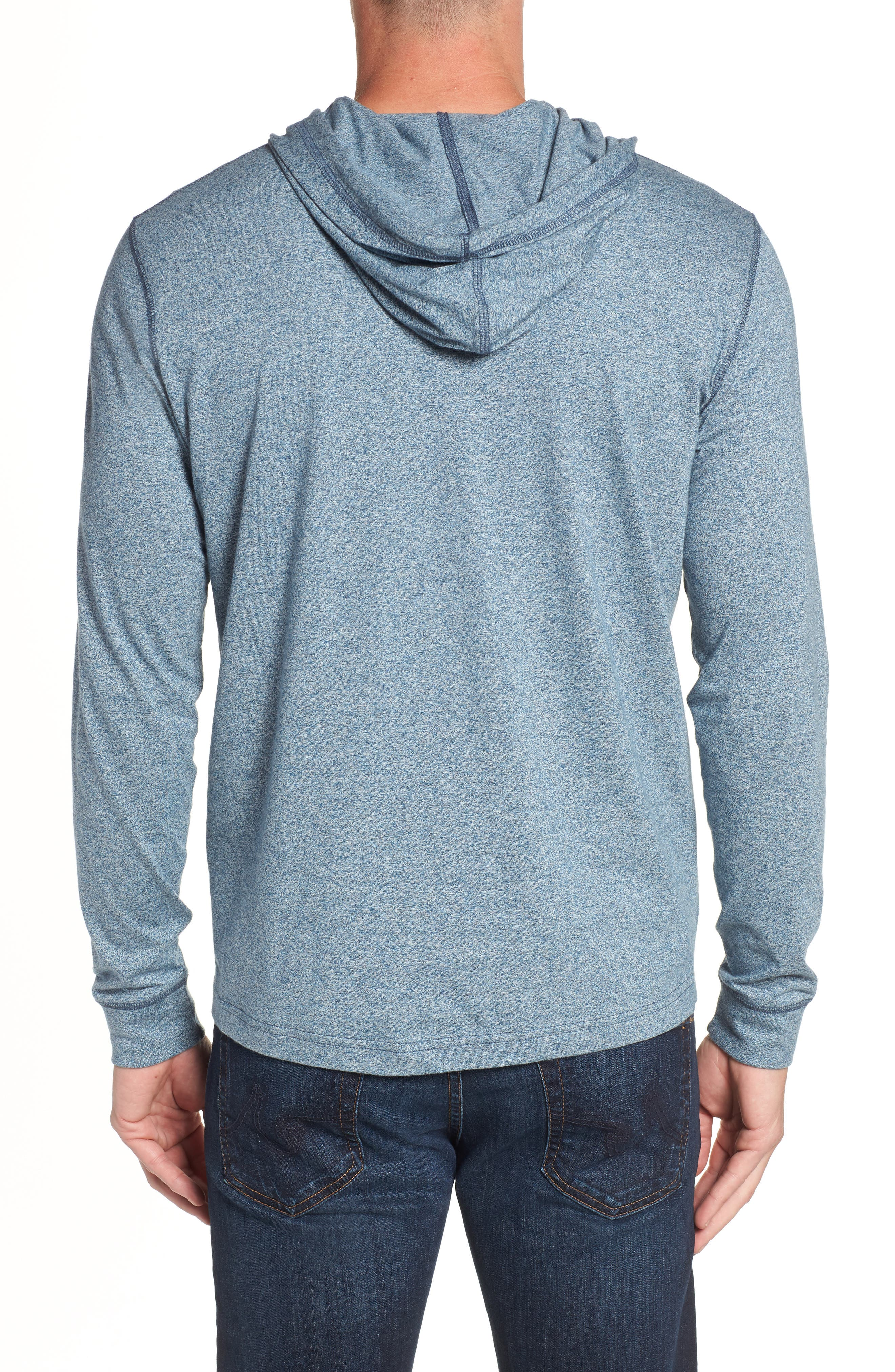 Embroidered Henley Hoodie,                             Alternate thumbnail 2, color,                             400