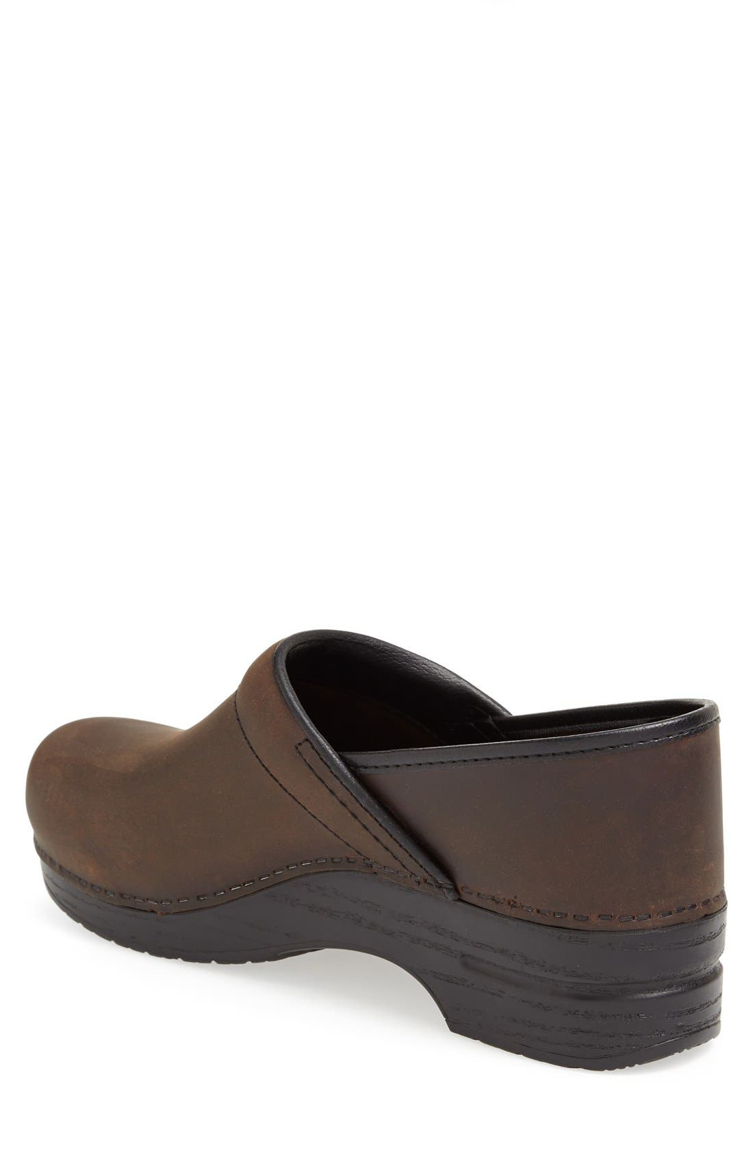 'Pro' Clog,                             Alternate thumbnail 2, color,                             ANTIQUE BROWN OILED