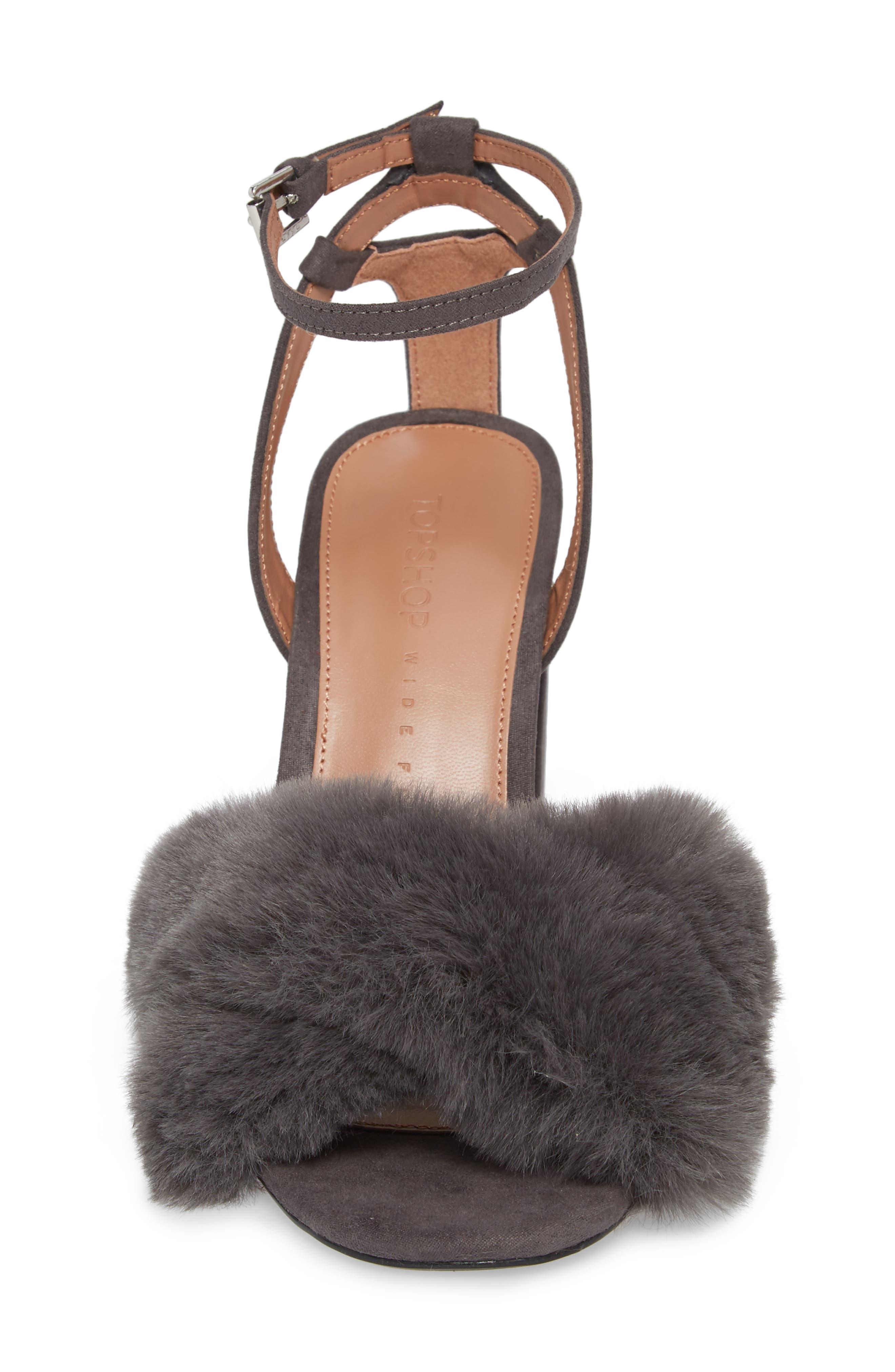 Sassy Faux Fur Sandal,                             Alternate thumbnail 11, color,