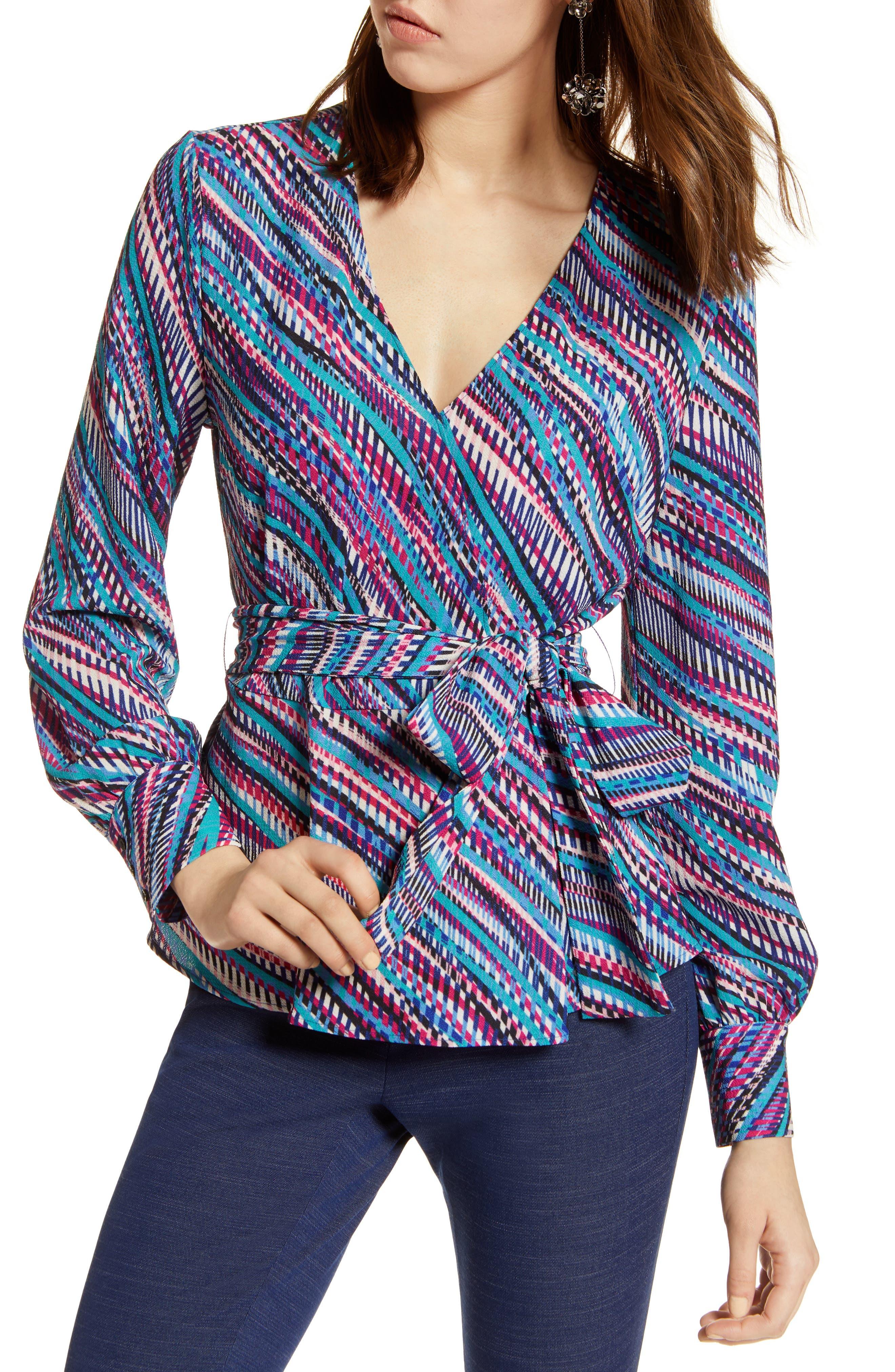 Faux Wrap Top,                         Main,                         color, 660