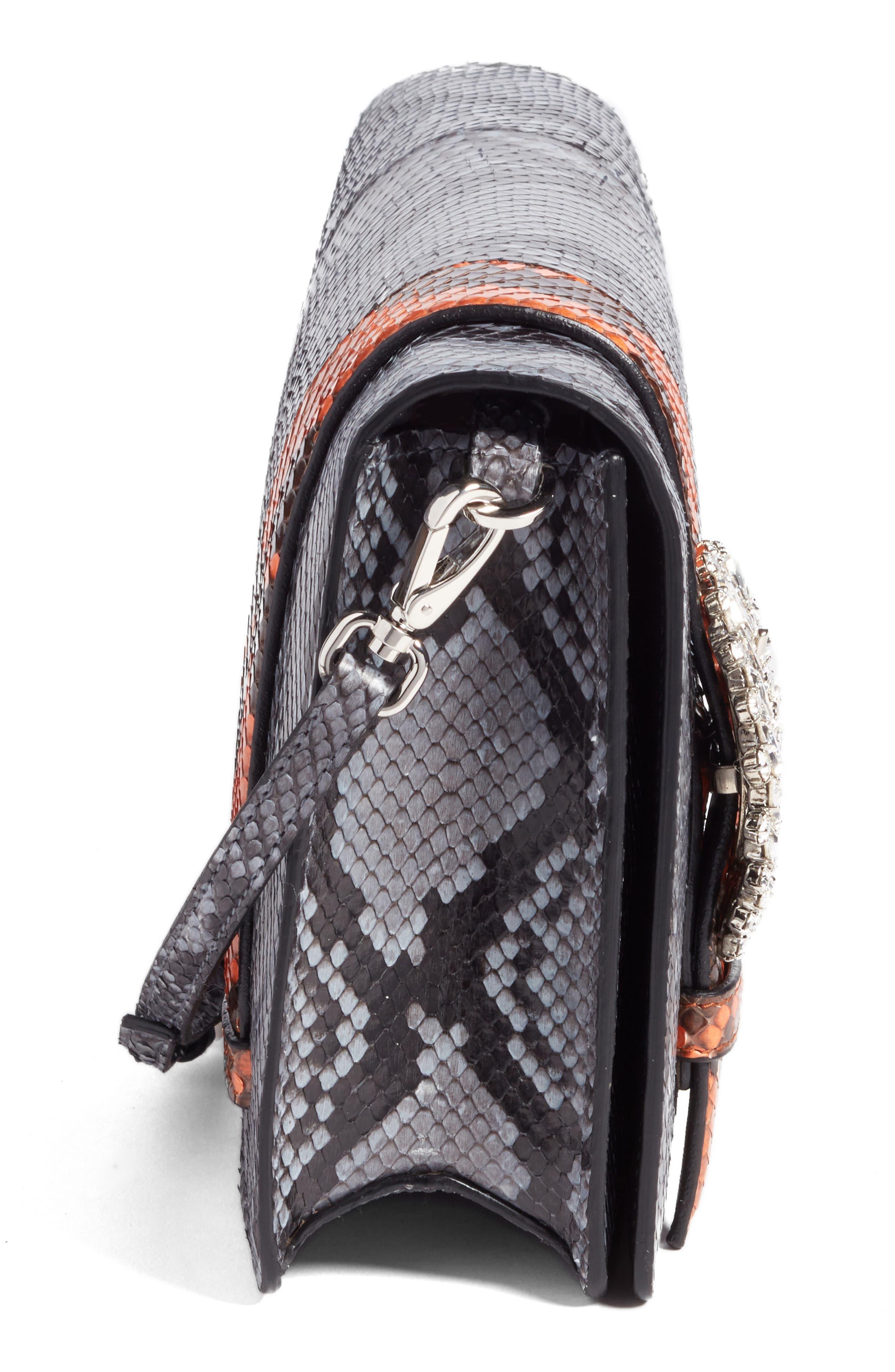 Genuine Python Shoulder Bag,                             Alternate thumbnail 5, color,                             460