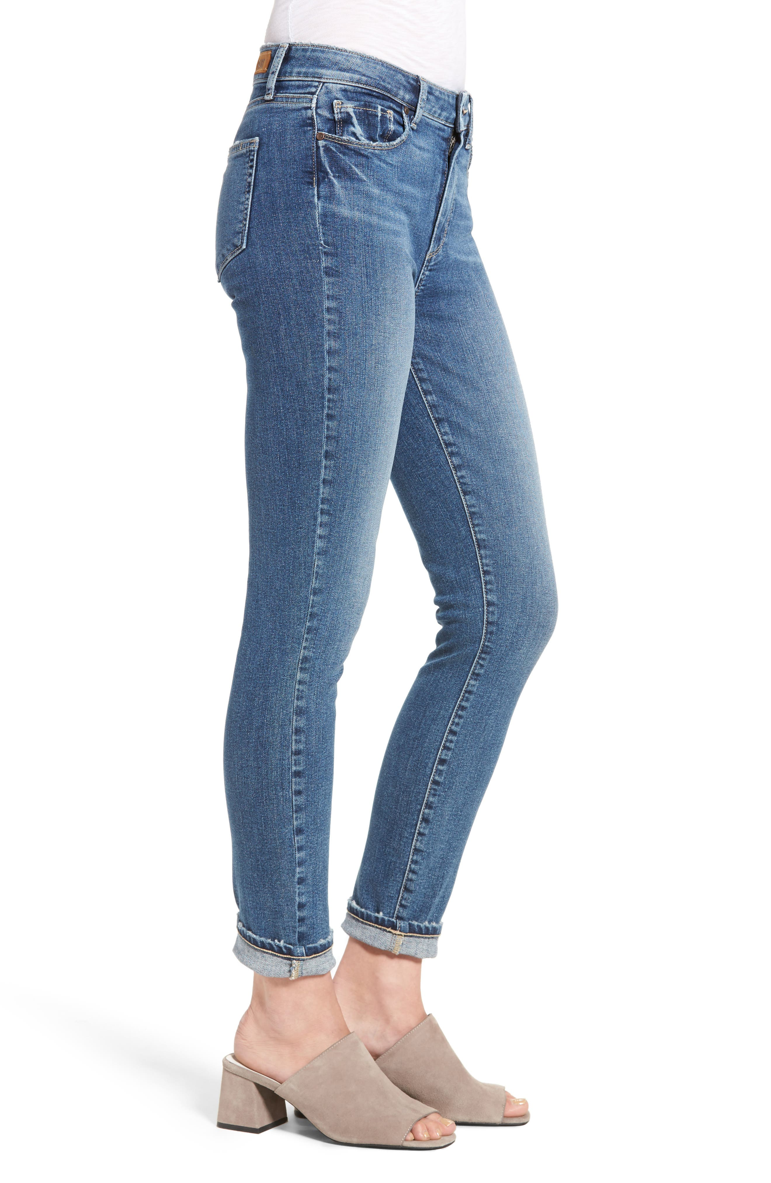 Hoxton High Waist Ultra Skinny Jeans,                             Alternate thumbnail 3, color,                             400