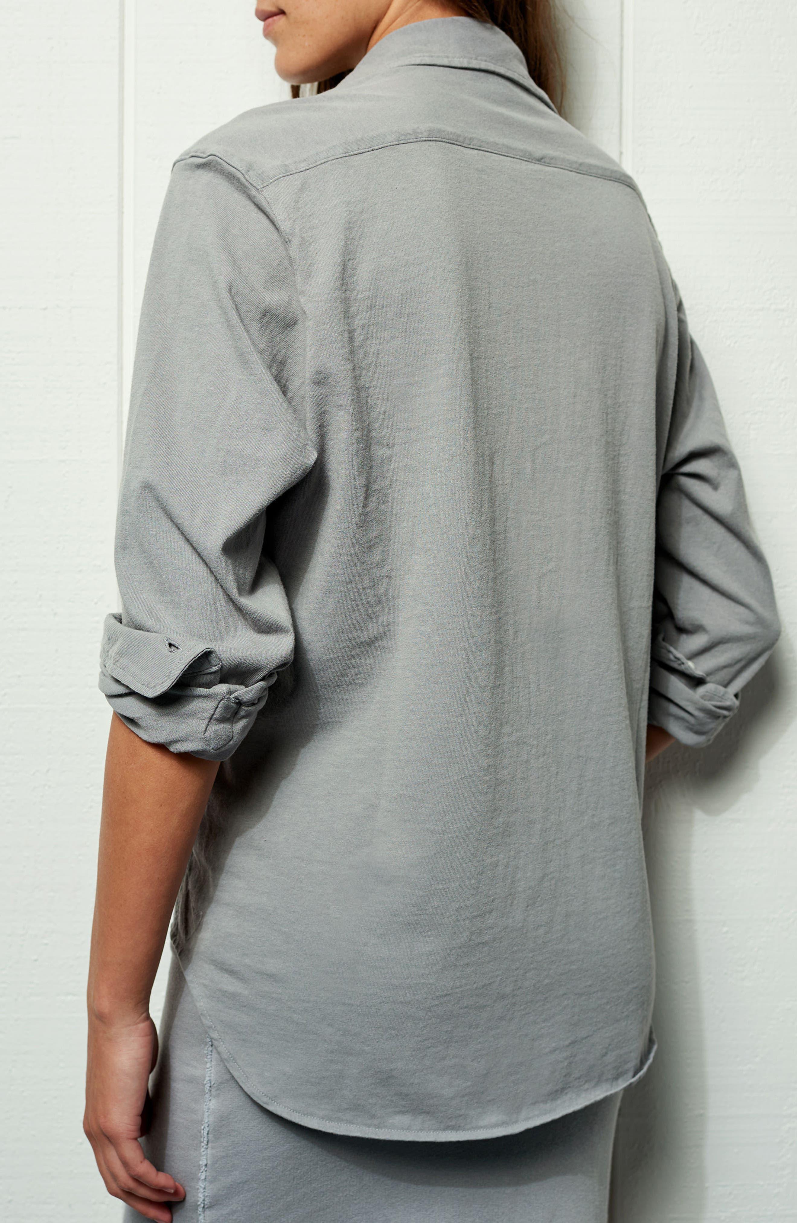 Tee Lab Knit Button Down Shirt,                             Alternate thumbnail 7, color,                             037