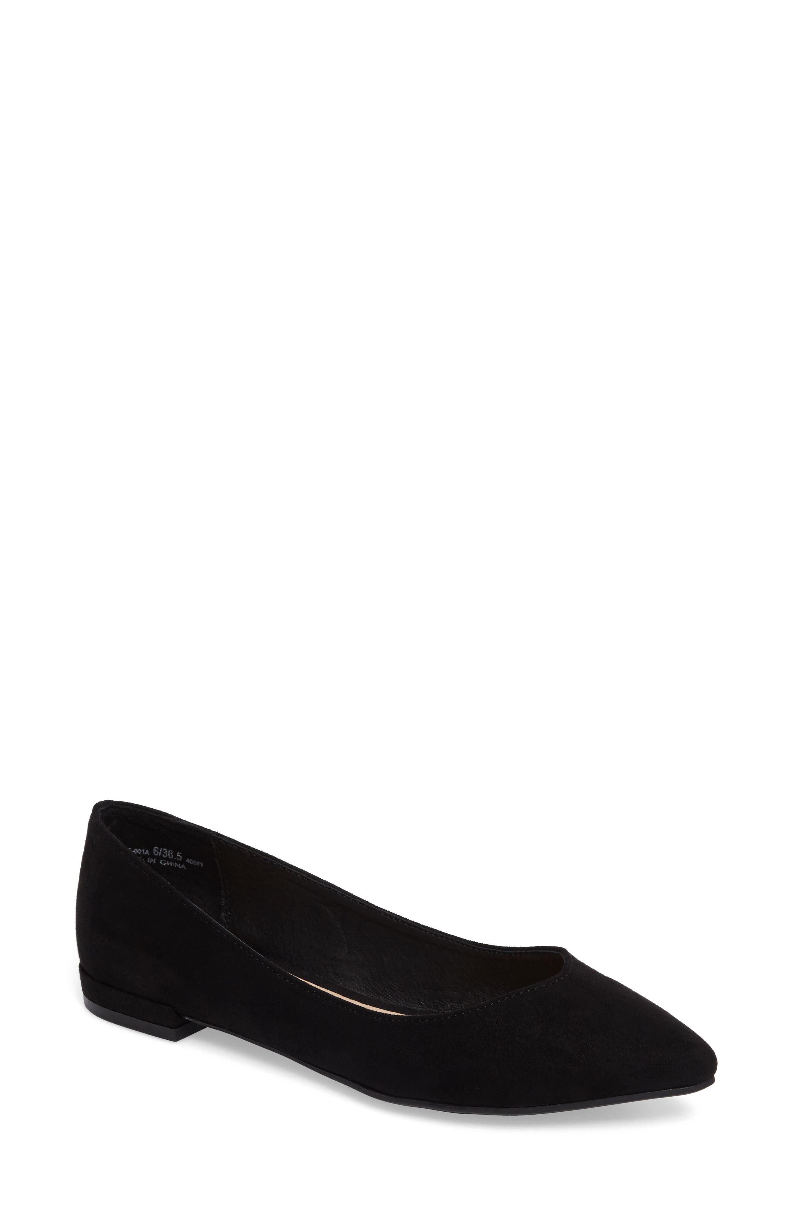 Gavin Pointy Toe Flat,                         Main,                         color, 001