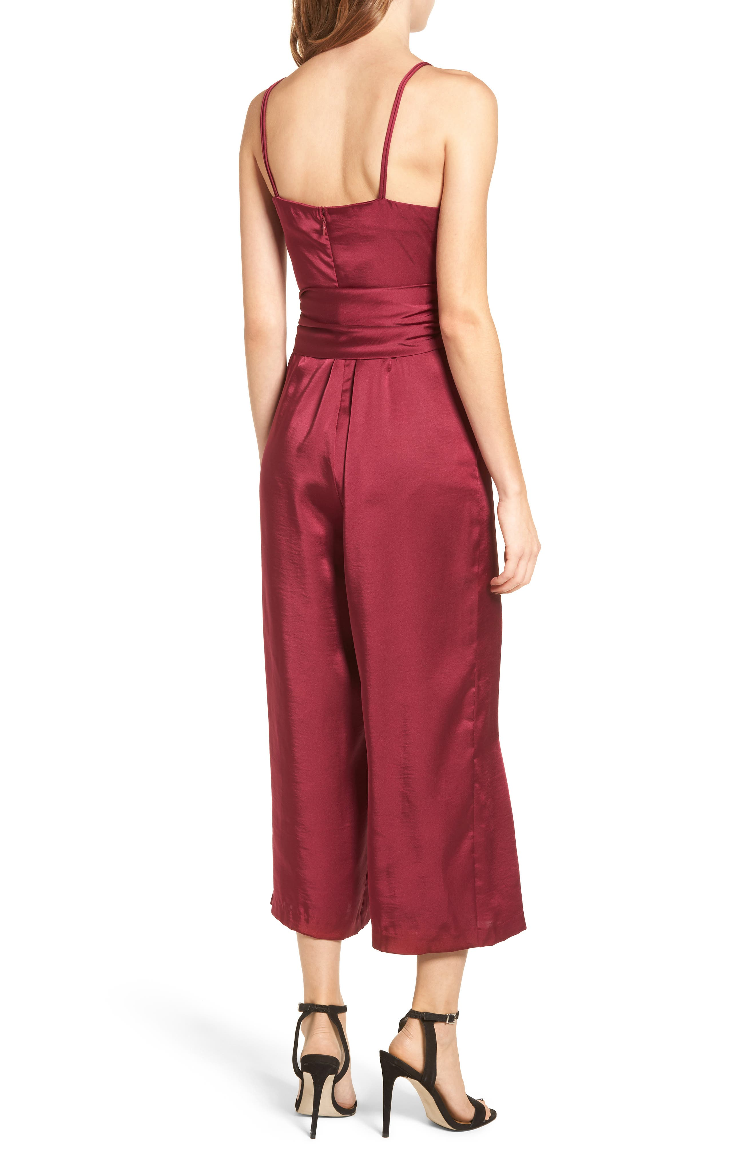 Strappy Satin Jumpsuit,                             Alternate thumbnail 2, color,                             650