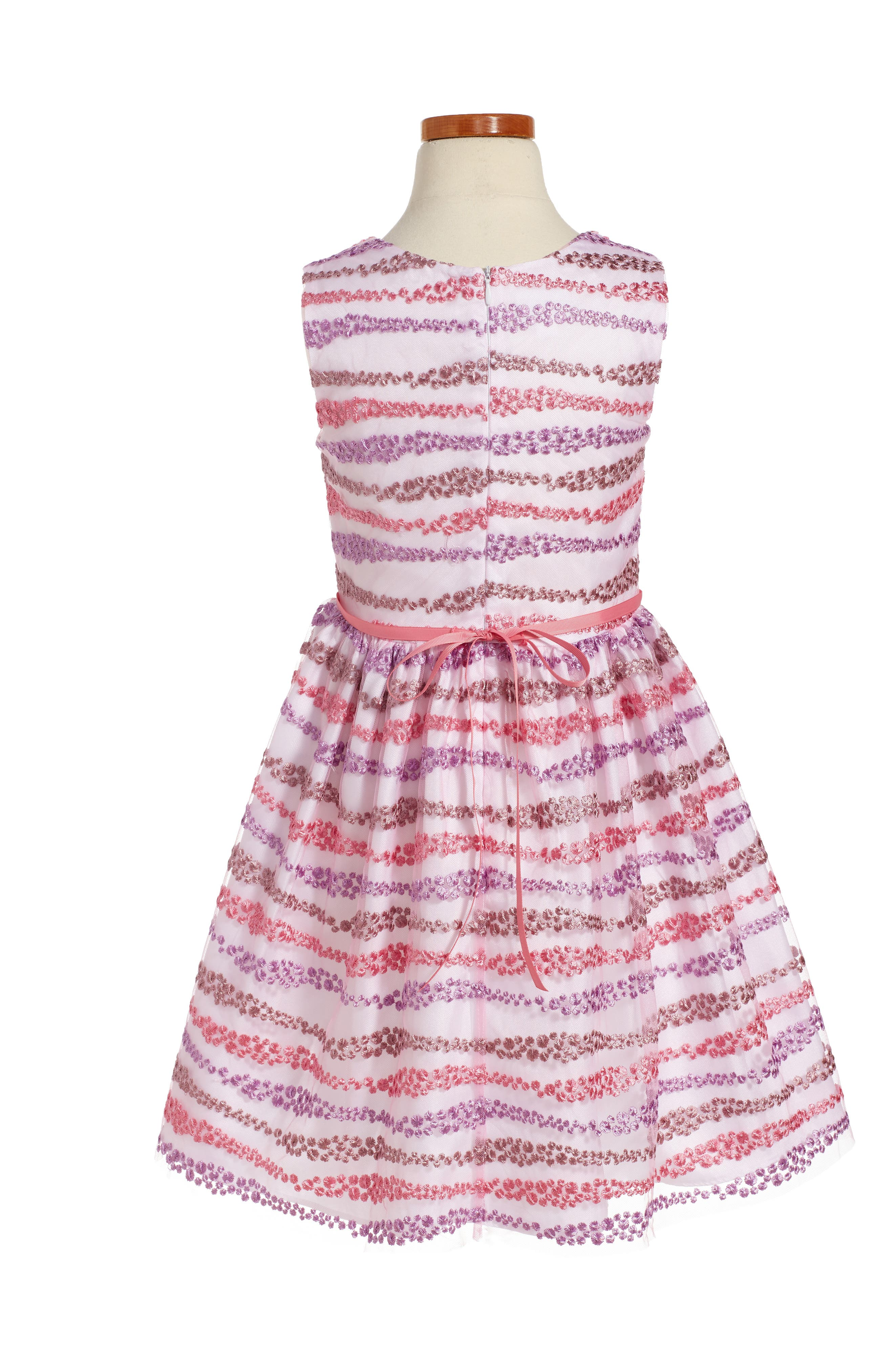 Embroidered Fit & Flare Dress,                             Alternate thumbnail 2, color,                             650