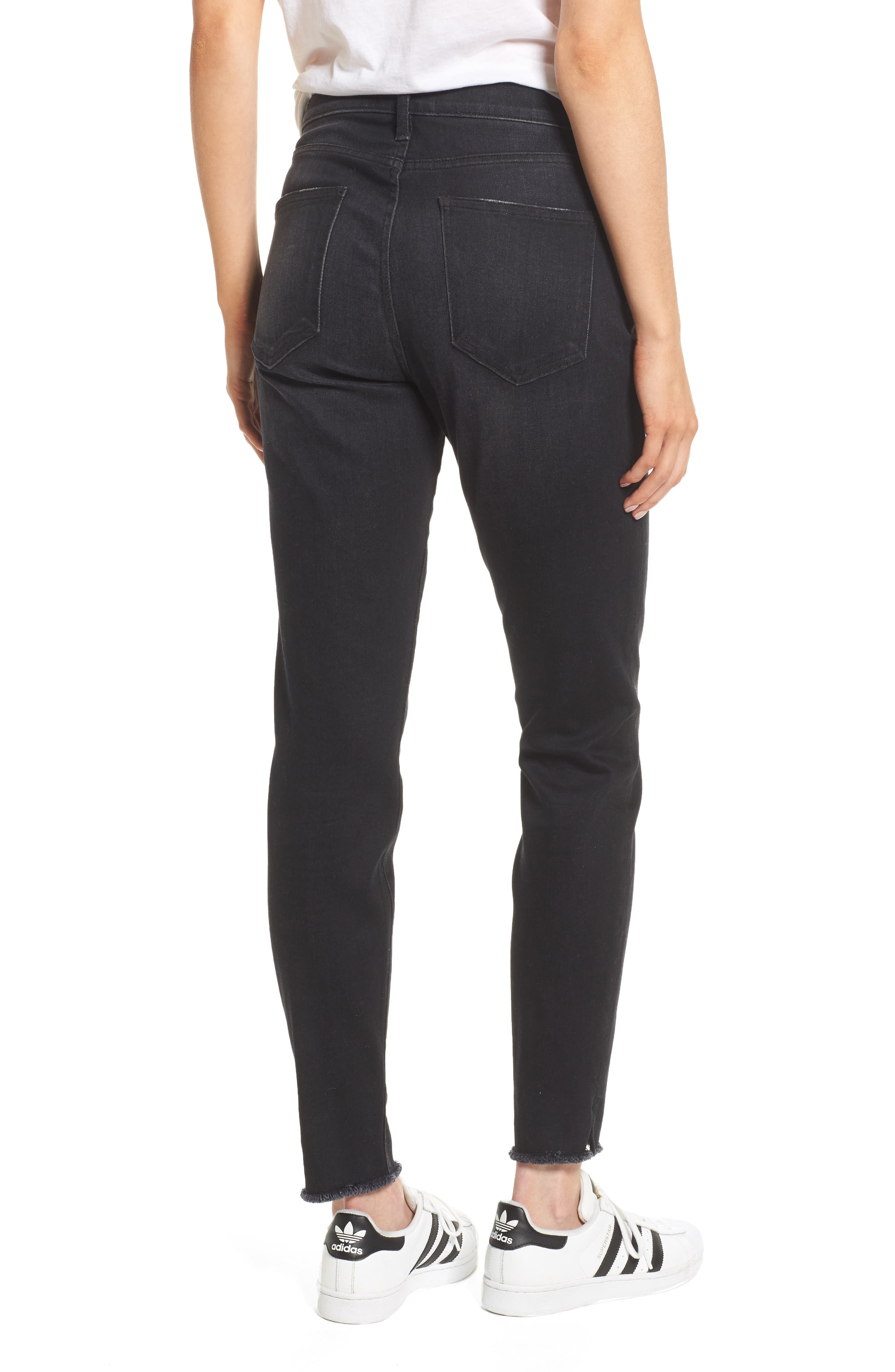 The Stiletto High Waist Ankle Skinny Jeans,                             Alternate thumbnail 2, color,                             YUMA CLEAN