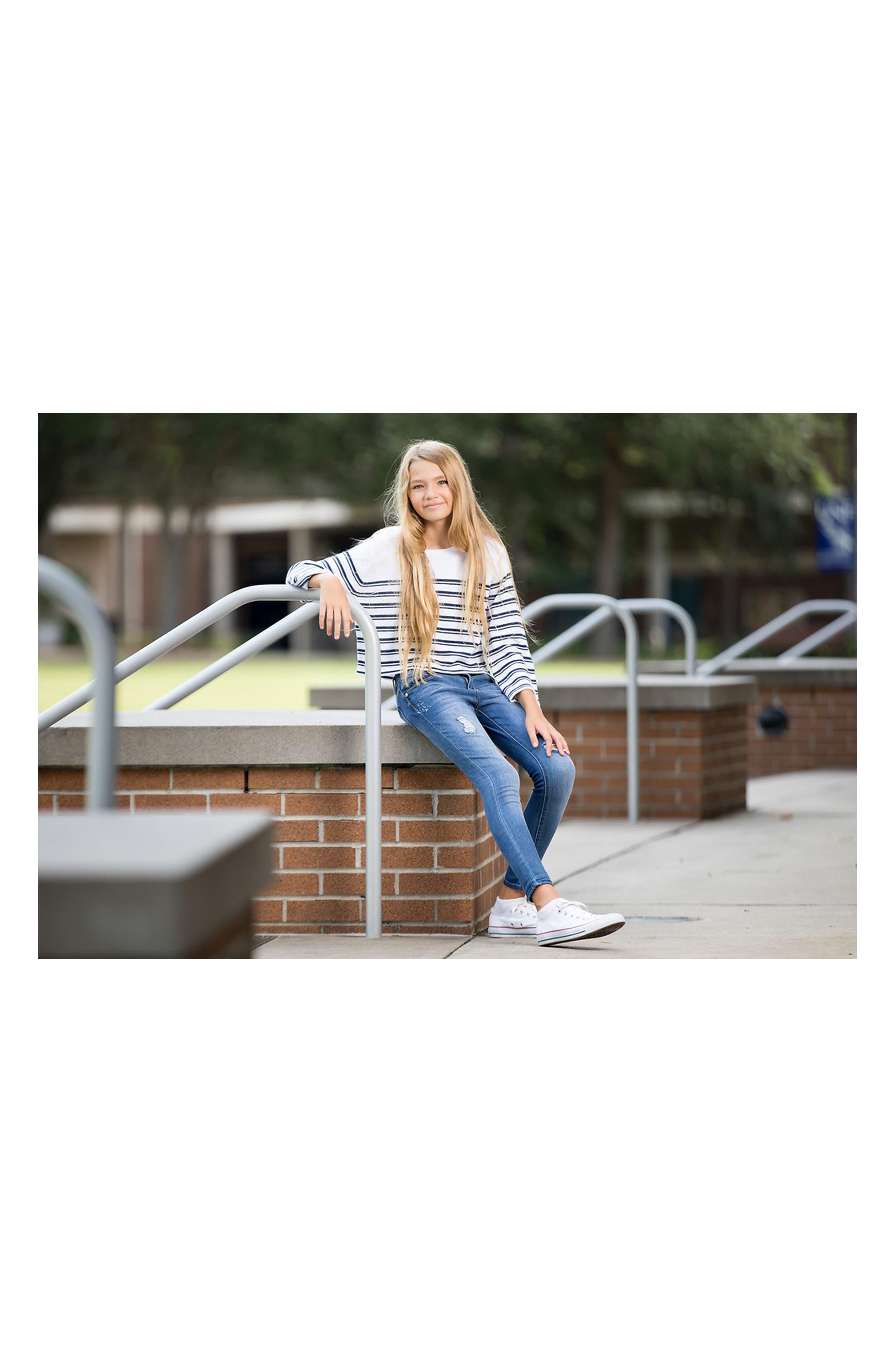 Stripe Cotton Sweater,                             Alternate thumbnail 3, color,                             400