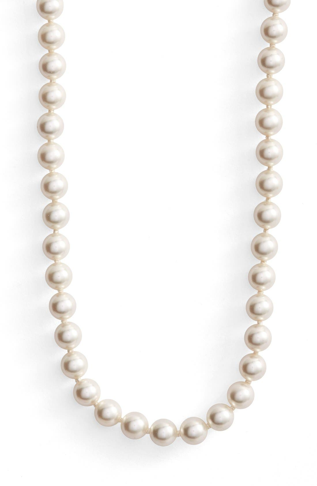 Imitation Pearl Strand Necklace,                             Alternate thumbnail 2, color,                             IVORY