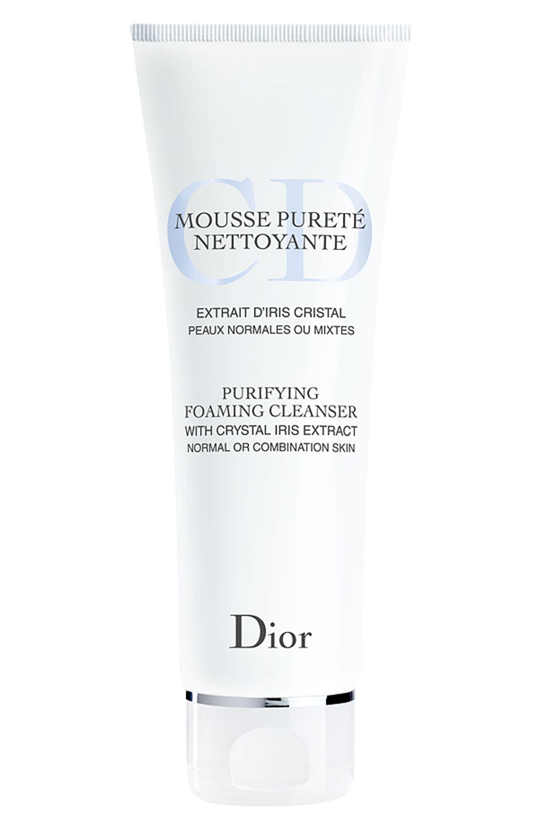 DIOR,                             Purifying Foam Cleanser for Normal or Combination Skin,                             Main thumbnail 1, color,                             000
