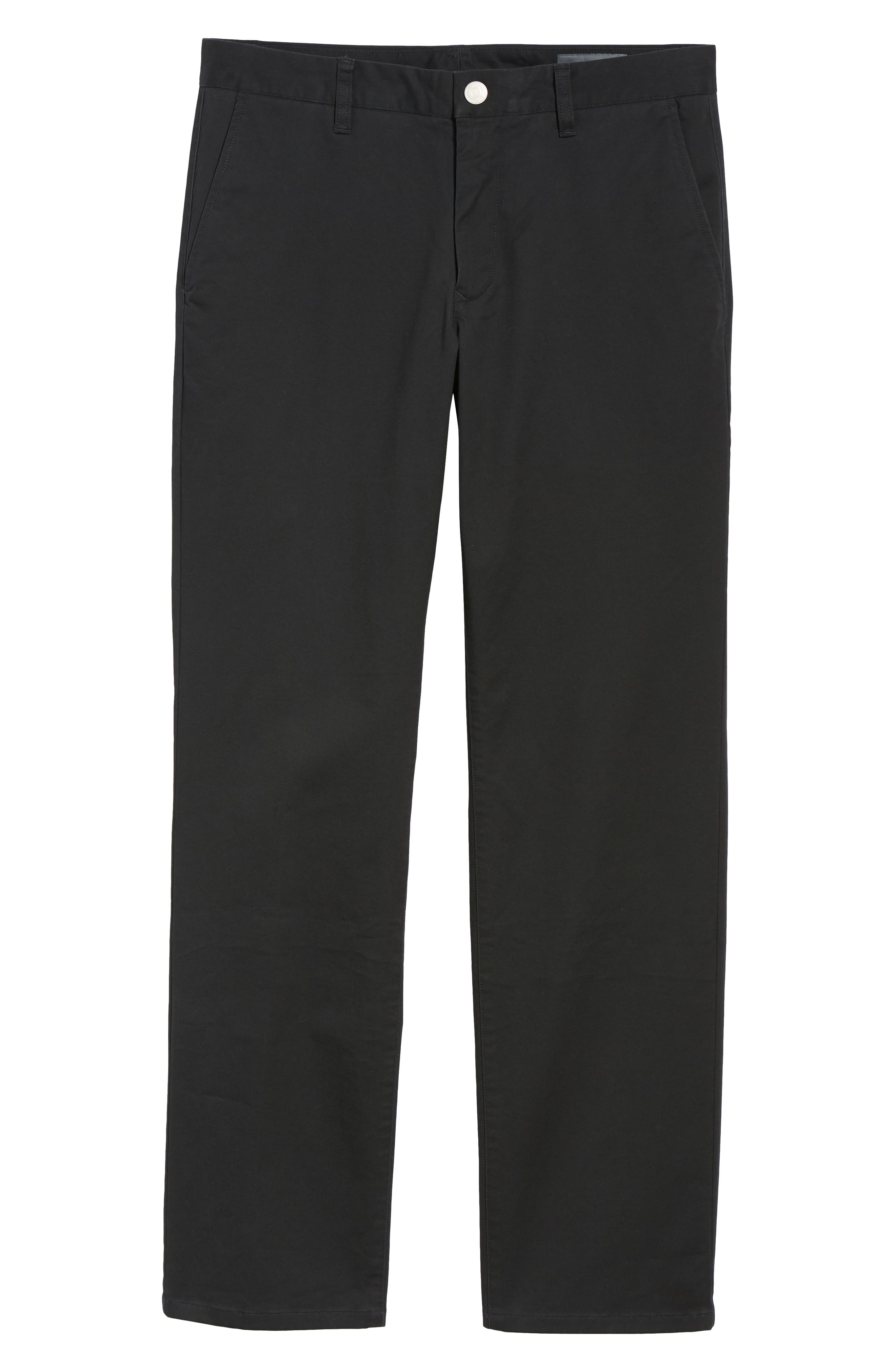 Straight Leg Stretch Washed Chinos,                             Alternate thumbnail 6, color,                             JET BLACK