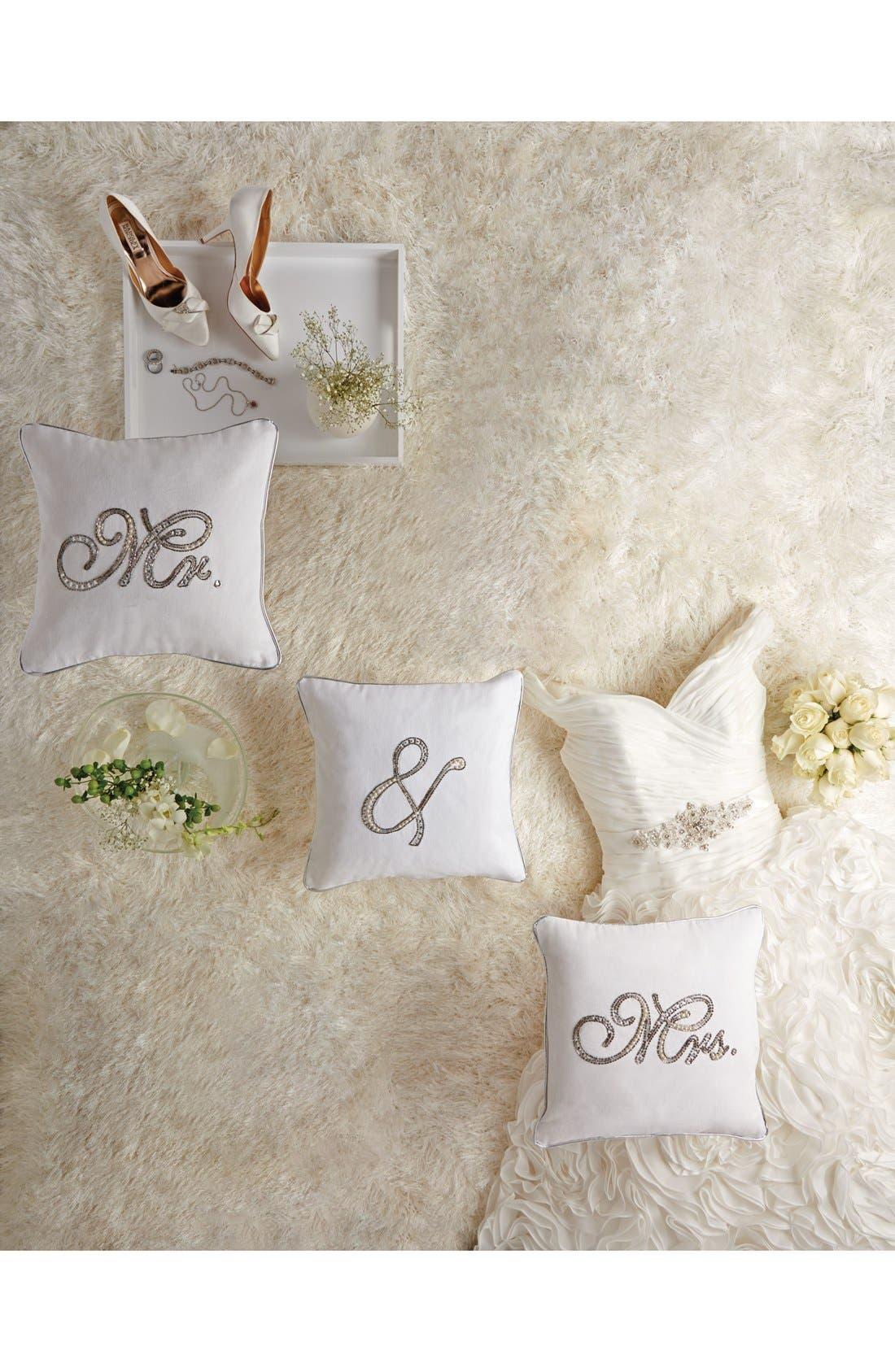 Embellished Wedding Pillow,                             Alternate thumbnail 2, color,                             100