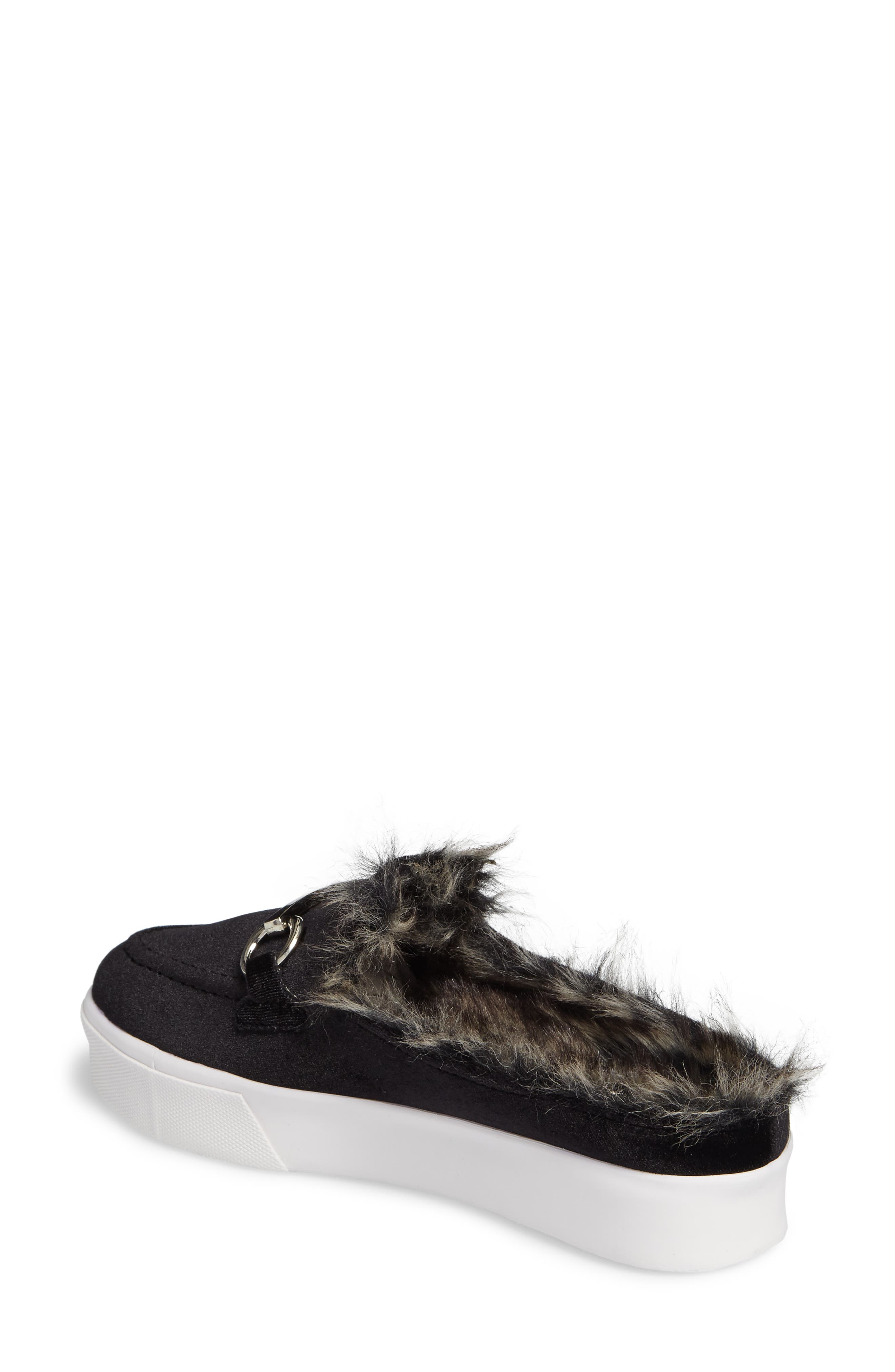 Tico Faux Fur Sneaker Mule,                             Alternate thumbnail 2, color,                             003