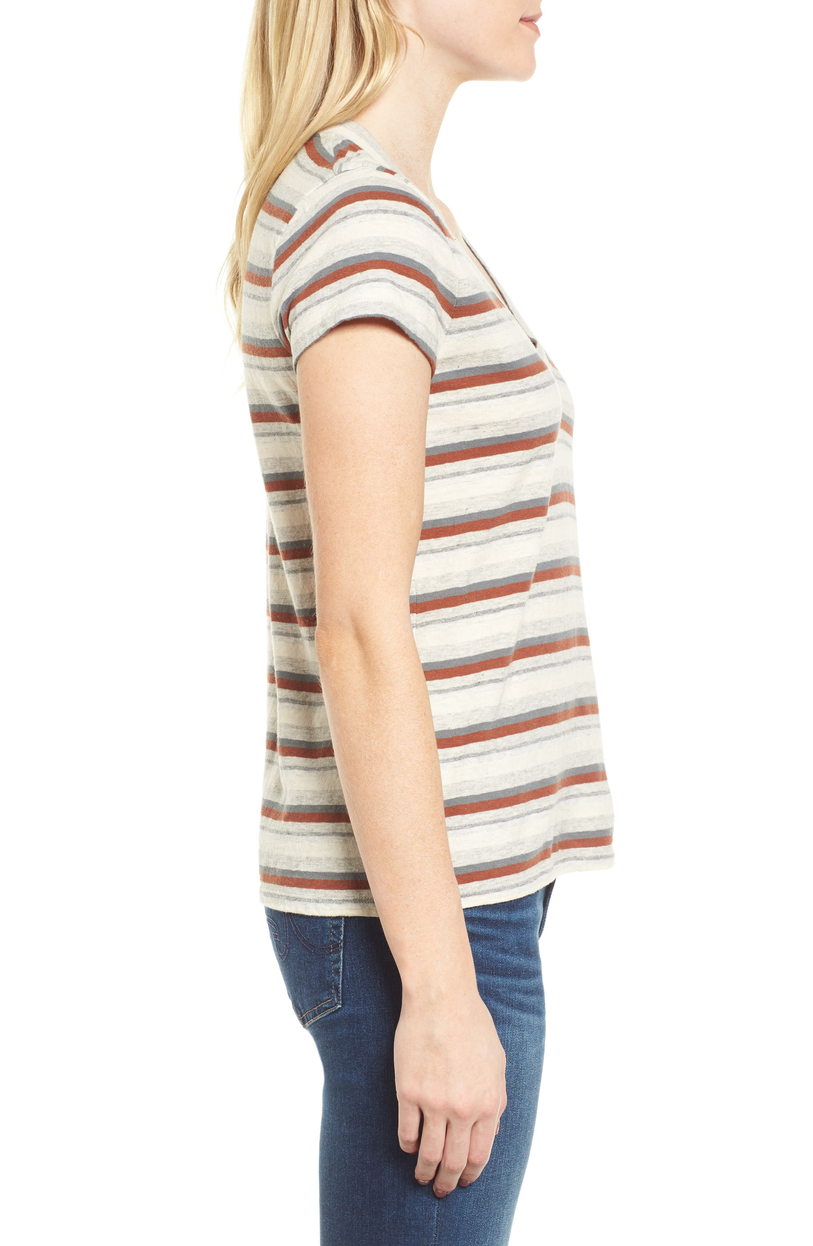 Stripe Tee,                             Alternate thumbnail 3, color,                             038