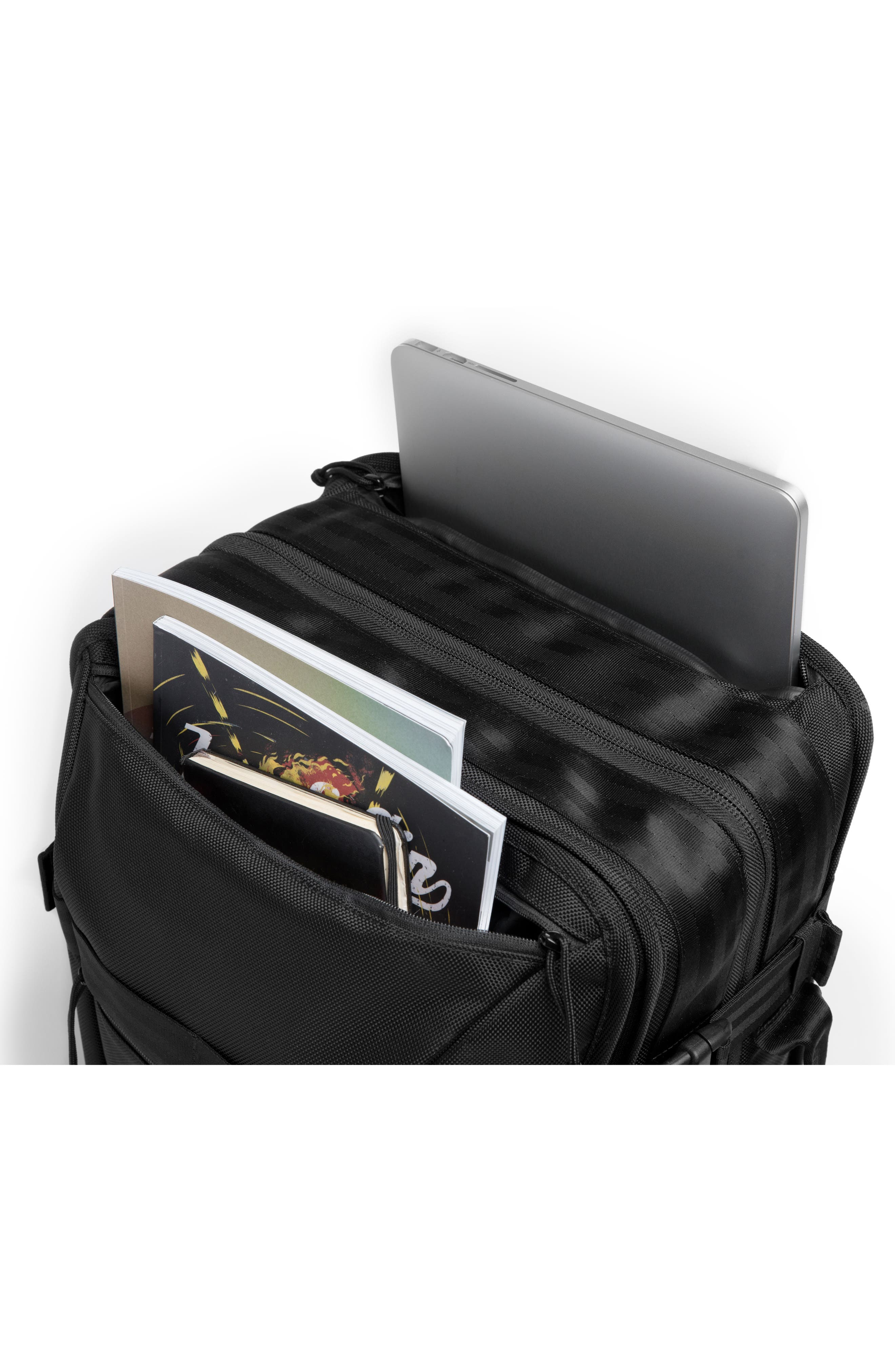 Macheto Travel Backpack,                             Alternate thumbnail 9, color,                             ALL BLACK
