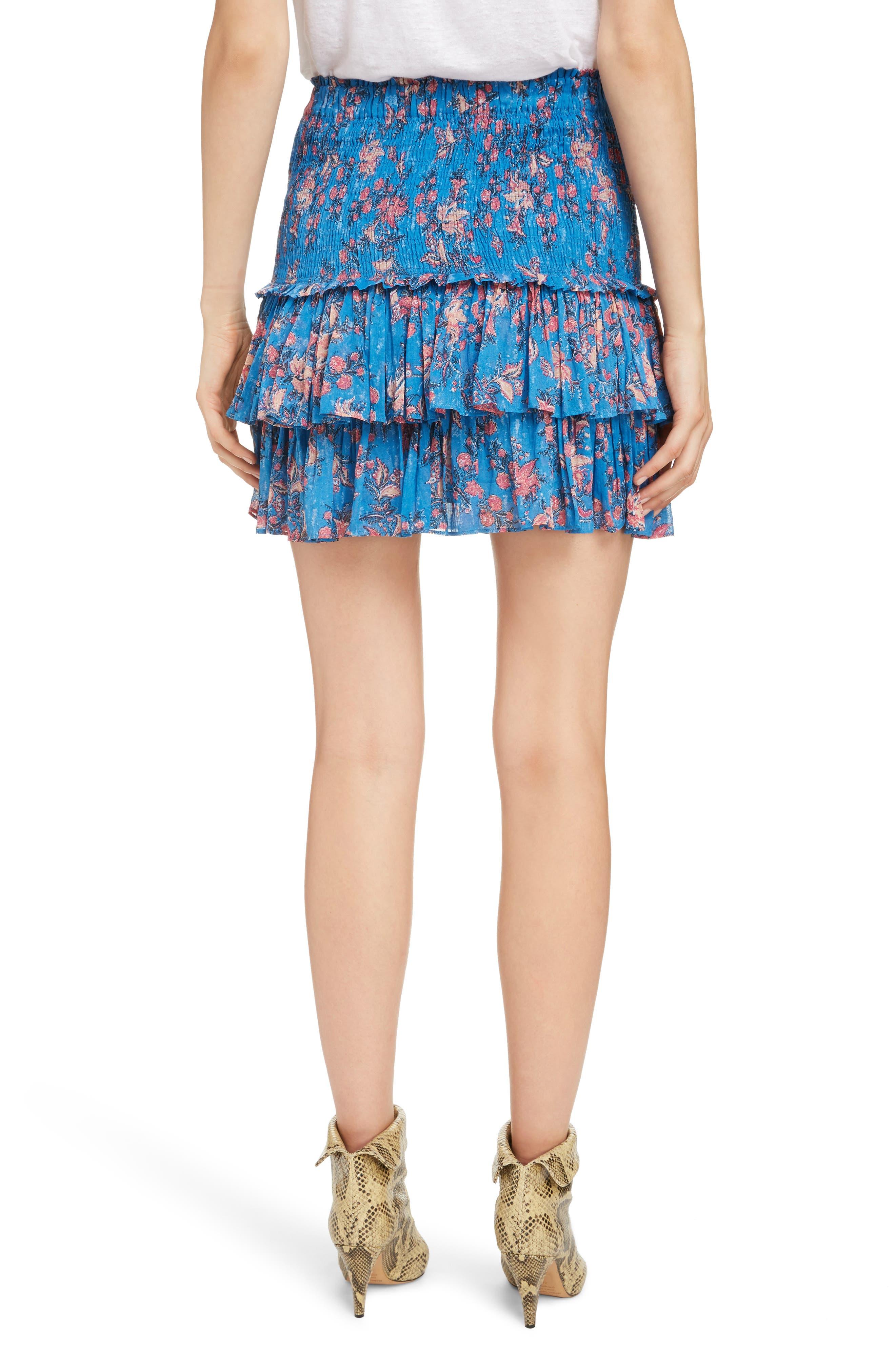 Naomi Shirred Miniskirt,                             Alternate thumbnail 2, color,                             BLUE