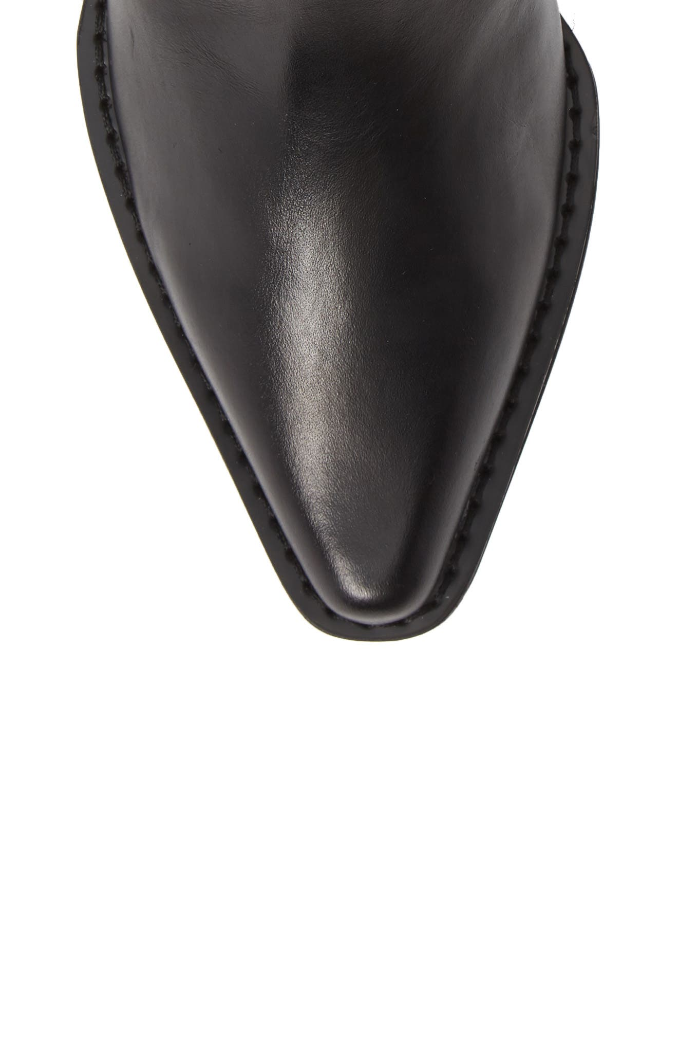 Barbara Bootie,                             Alternate thumbnail 5, color,                             BLACK LEATHER