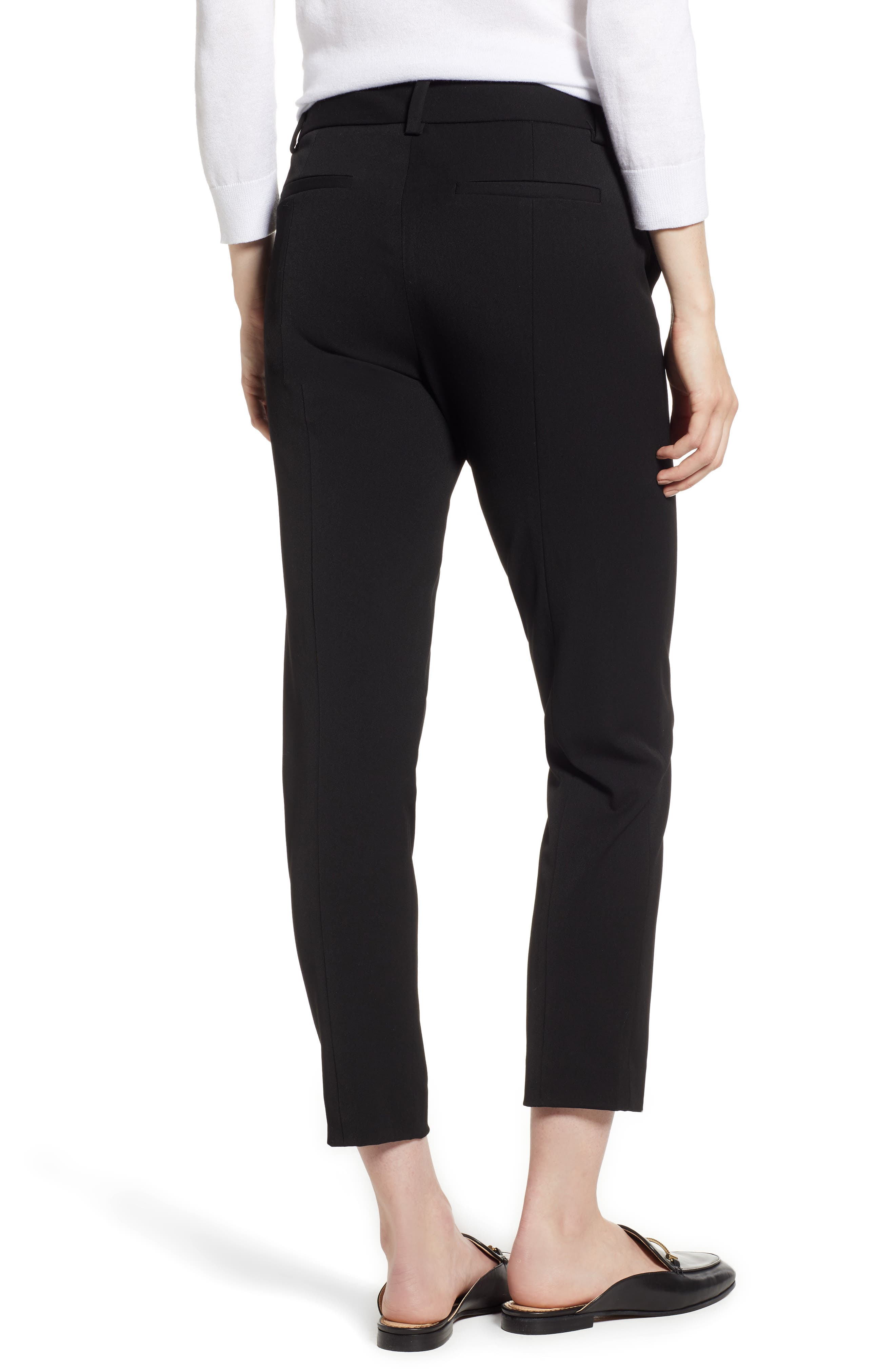 2-Way Stretch Twill Straight Pants,                             Alternate thumbnail 2, color,                             RICH BLACK