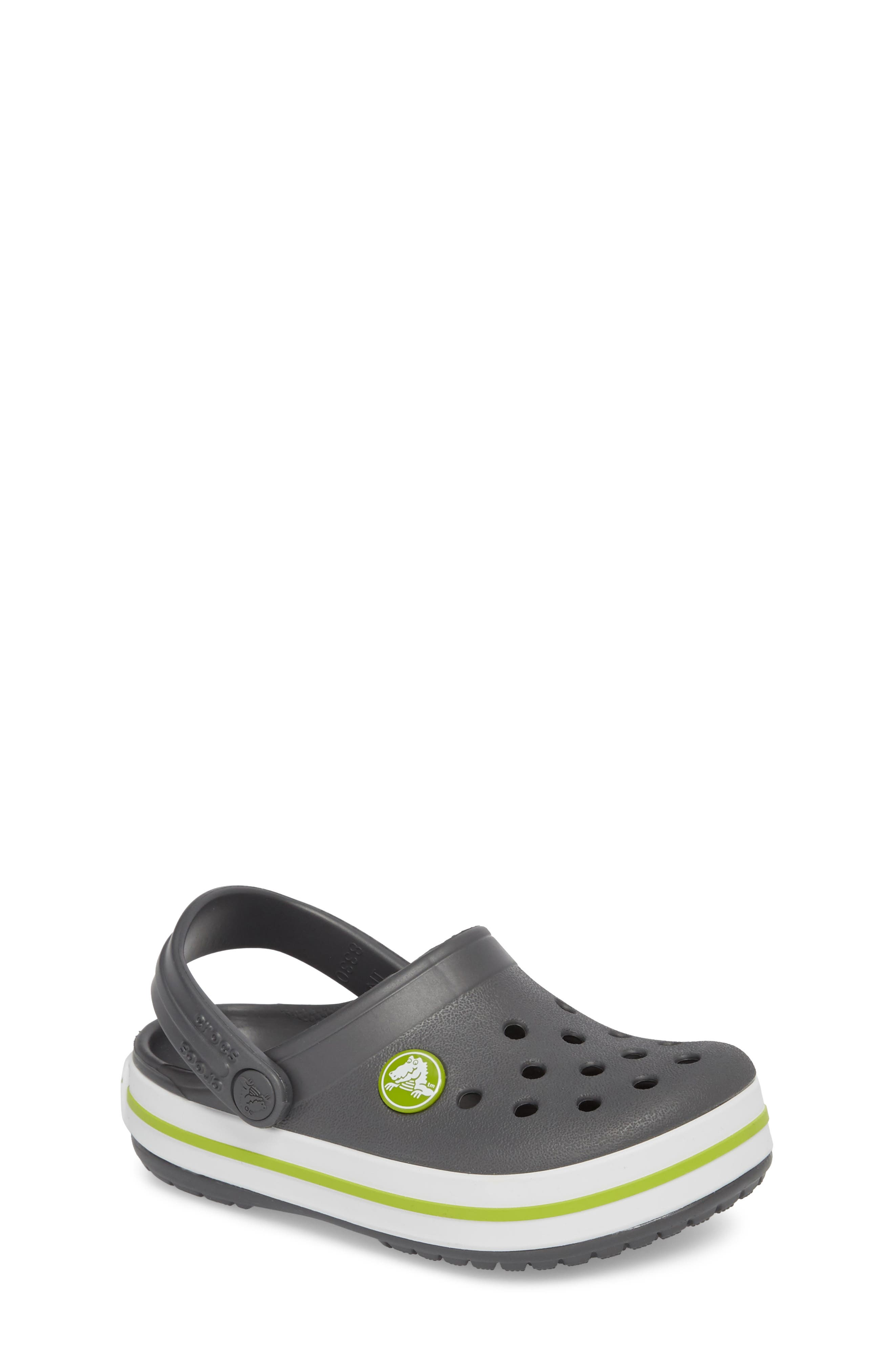 Crocband Clog,                             Main thumbnail 1, color,                             GRAPHITE/ GREEN