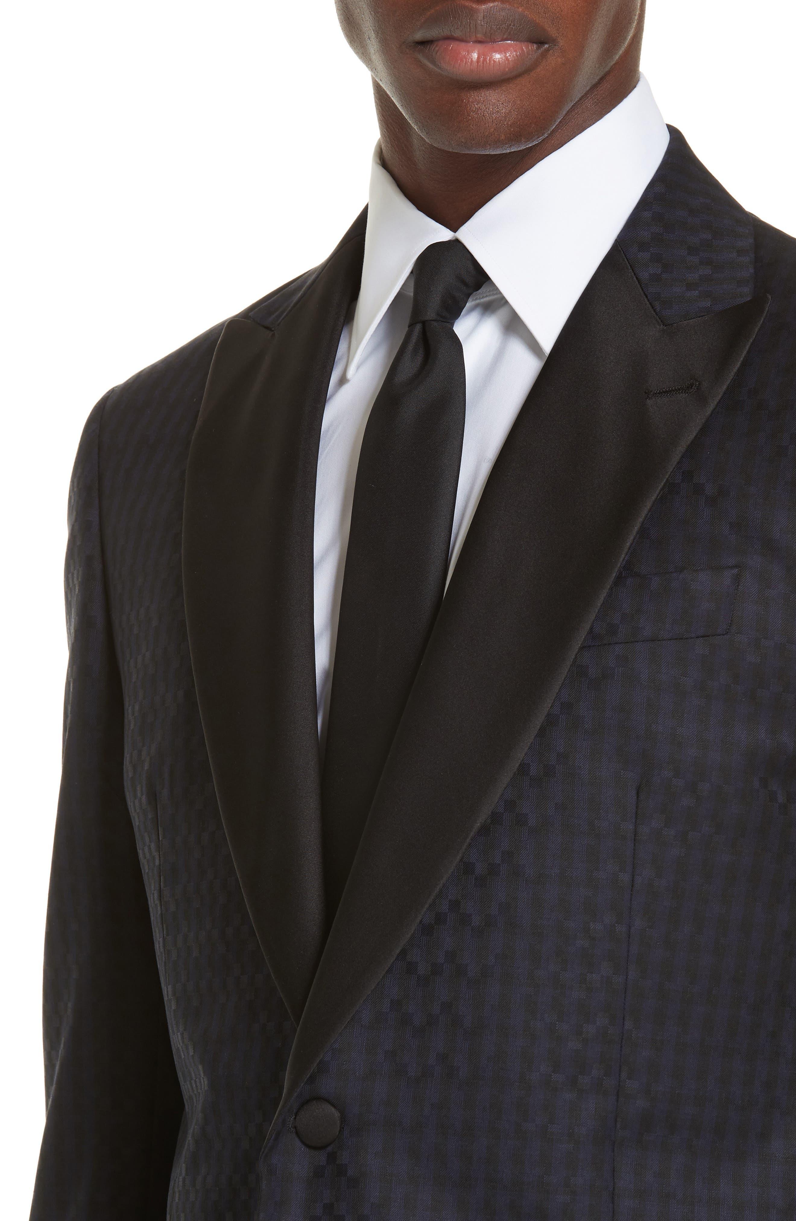 G-Line Trim Fit Wool Dinner Jacket,                             Alternate thumbnail 4, color,                             MIDNIGHT