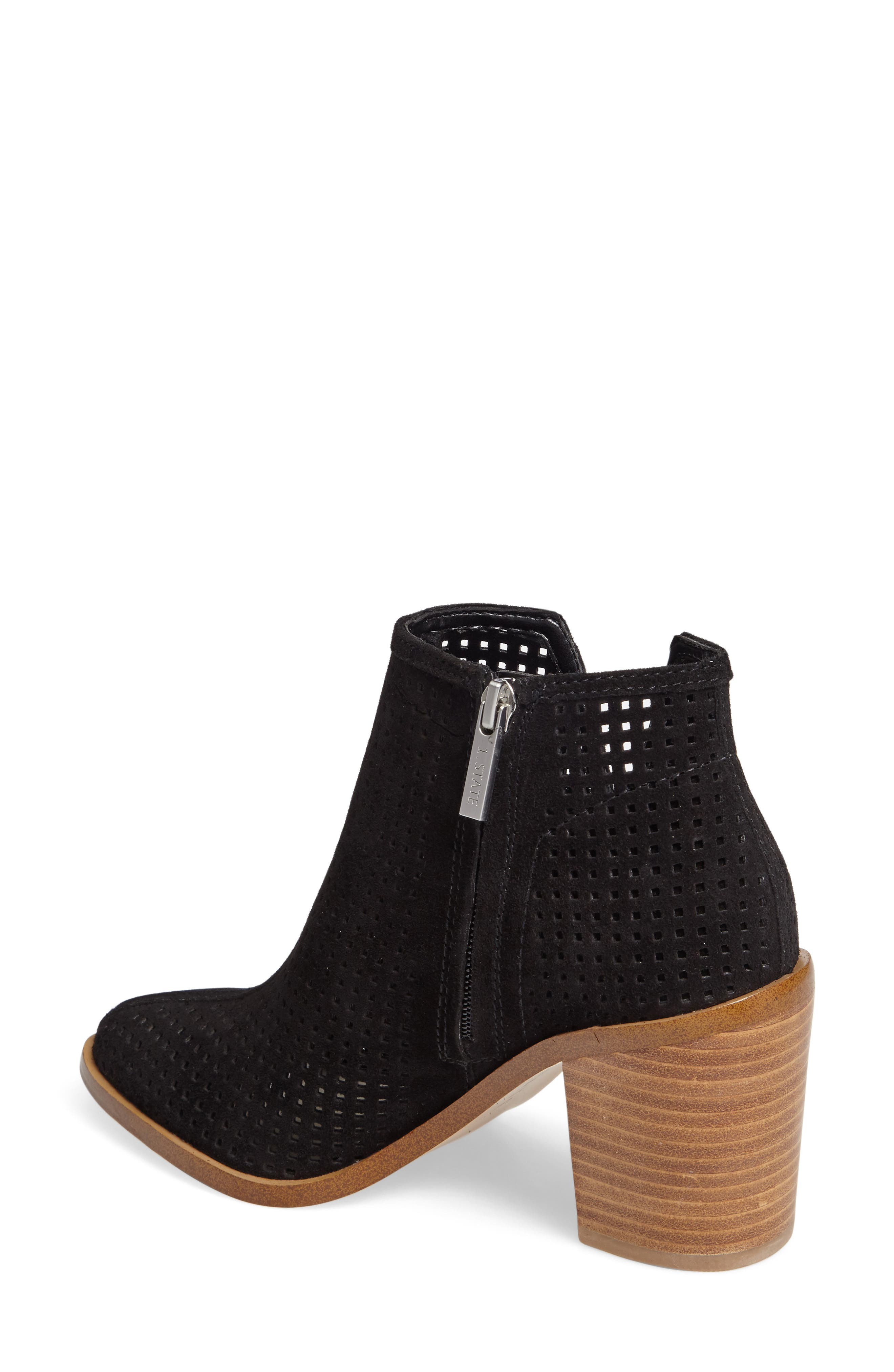 1. STATE Larocka Perforated Bootie,                             Alternate thumbnail 2, color,                             001
