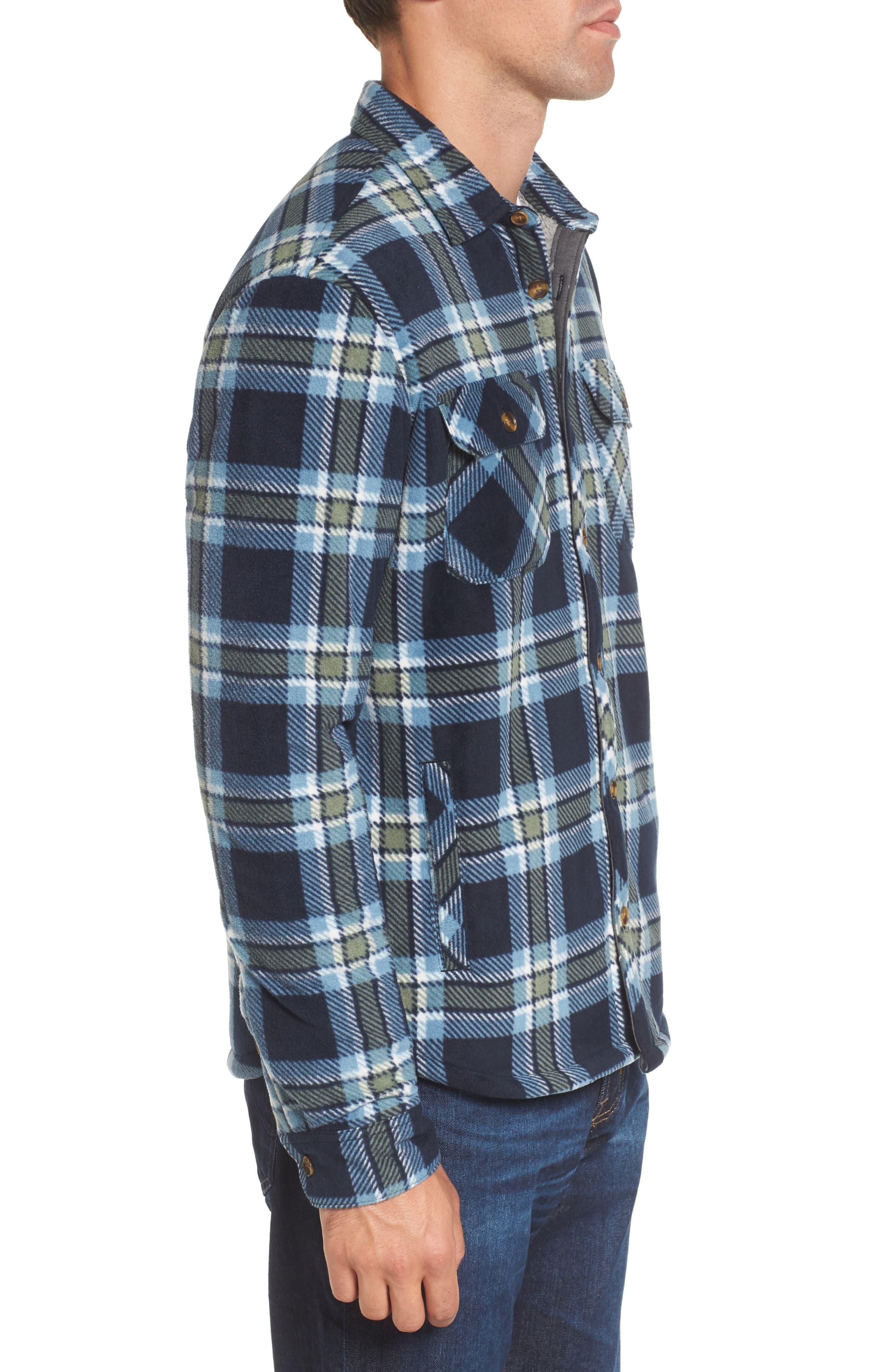 Glacier Heat Dome Plaid Fleece Shirt,                             Alternate thumbnail 6, color,