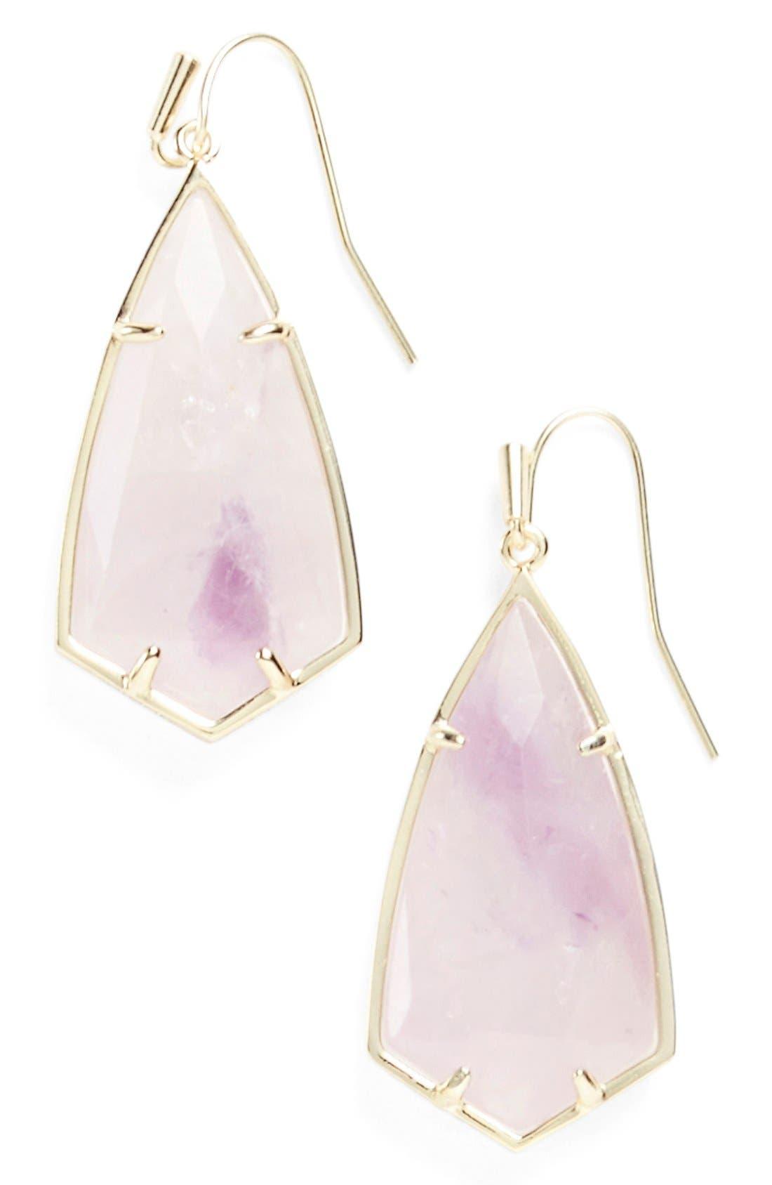 Carla Semiprecious Stone Drop Earrings,                             Main thumbnail 8, color,