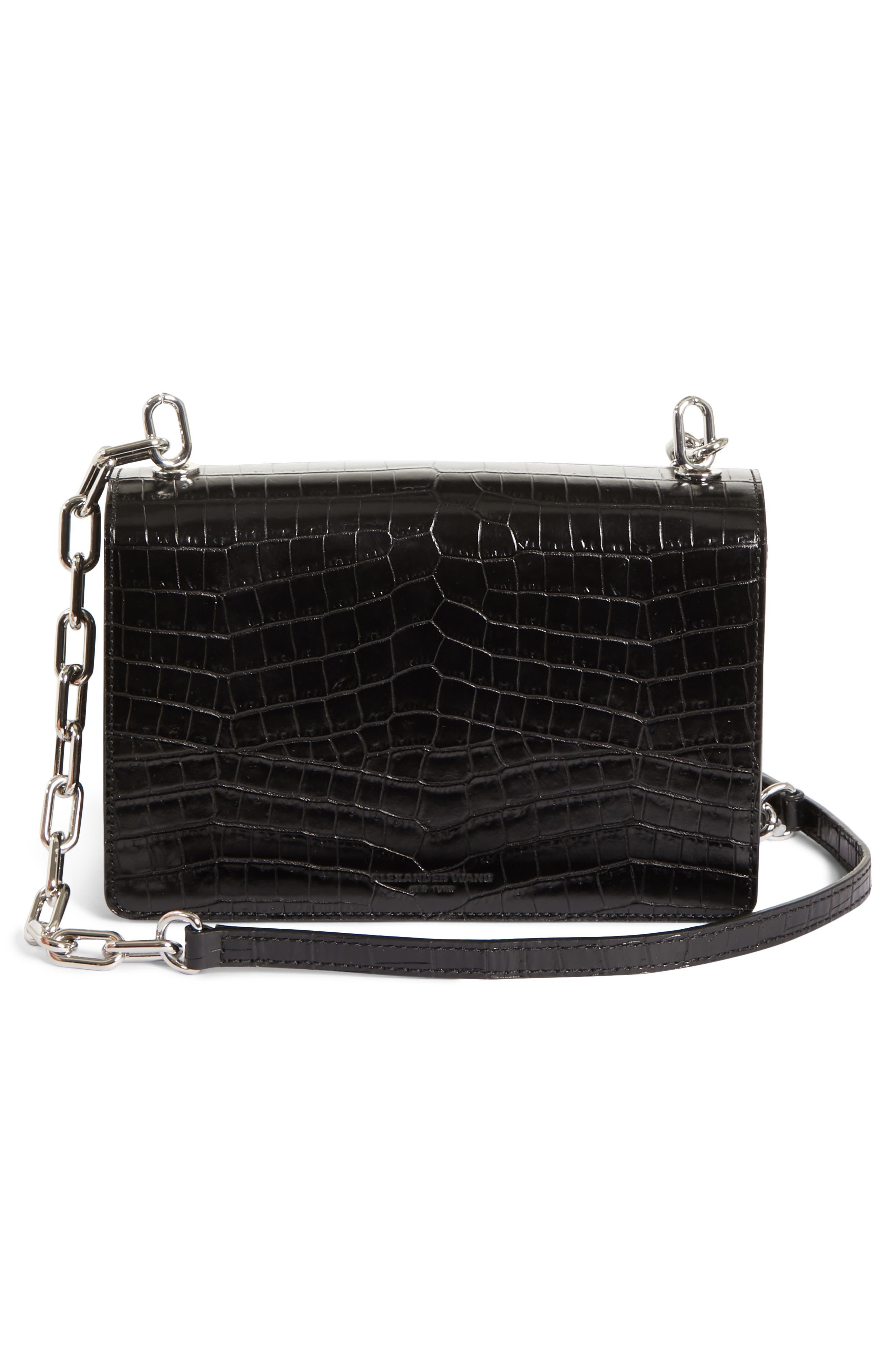 Hook Medium Leather Shoulder/Crossbody Bag,                             Alternate thumbnail 3, color,                             001