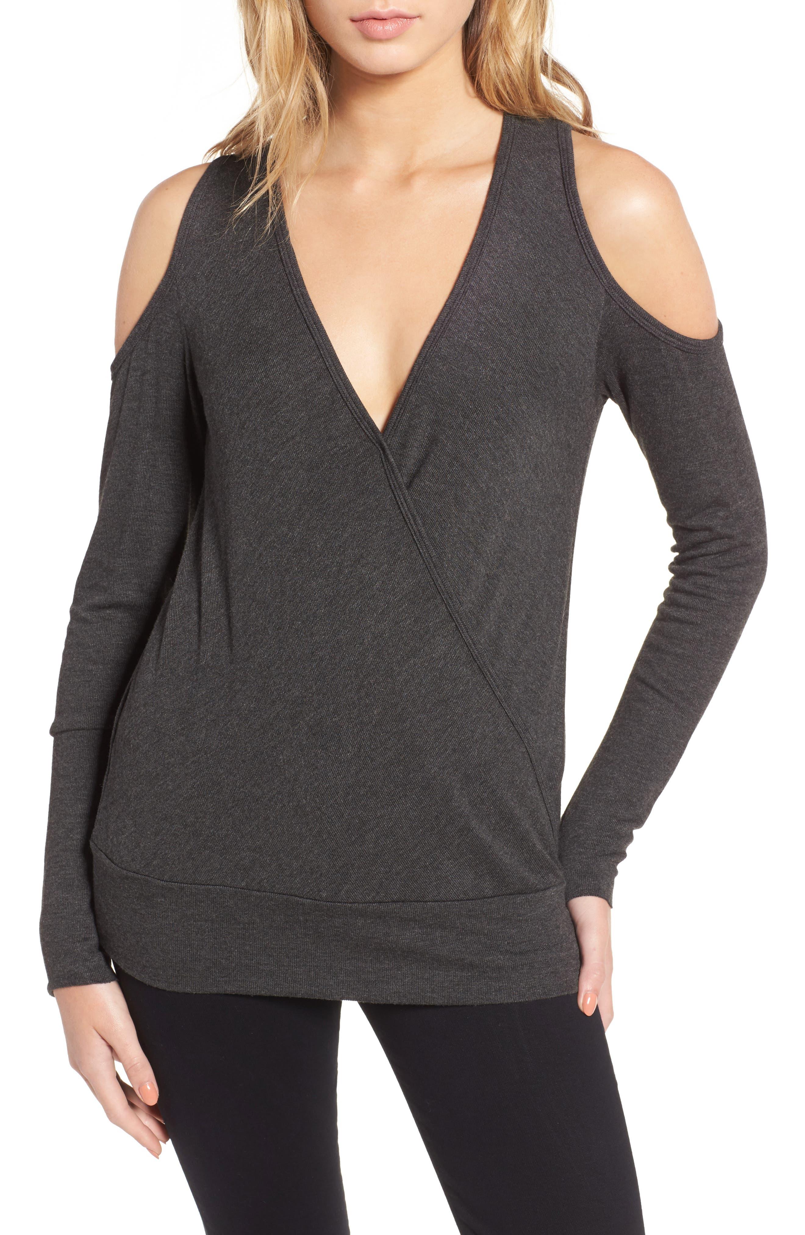 Big Hit Cold Shoulder Sweater,                         Main,                         color,