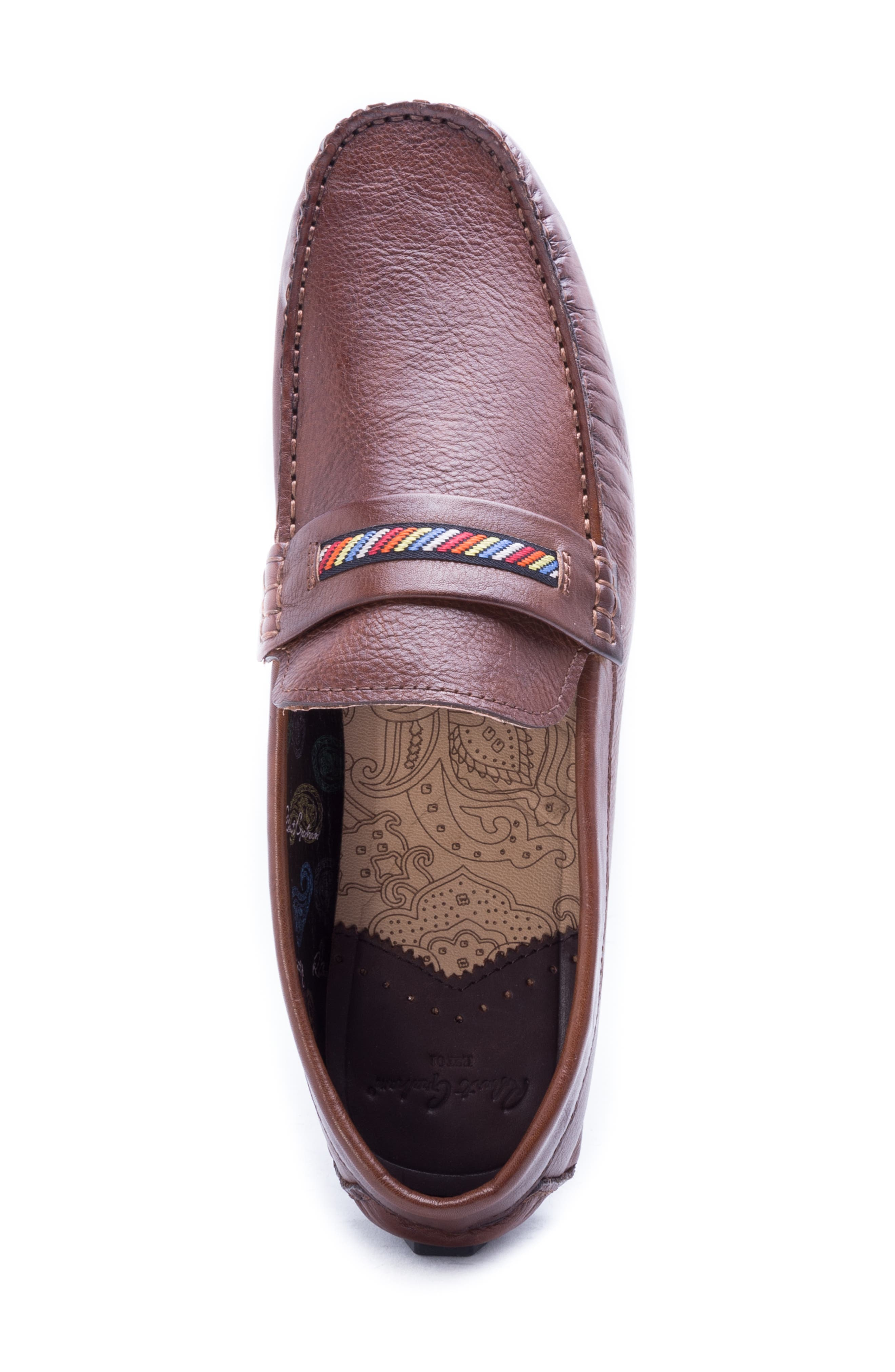 Hart Driving Moccasin,                             Alternate thumbnail 5, color,                             COGNAC LEATHER