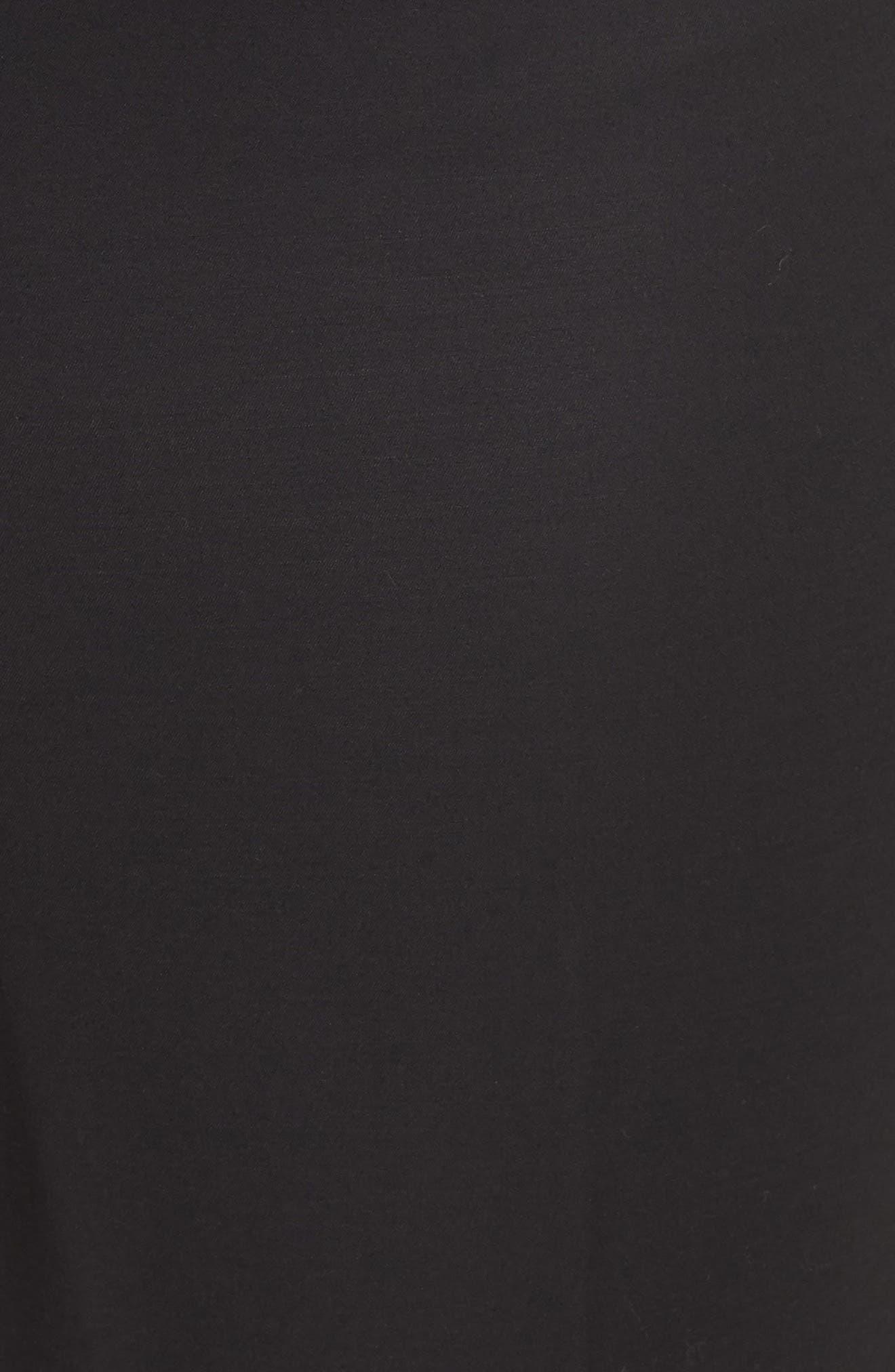 'Perfect' Side Zip Pants,                             Alternate thumbnail 5, color,                             BLACK ONYX