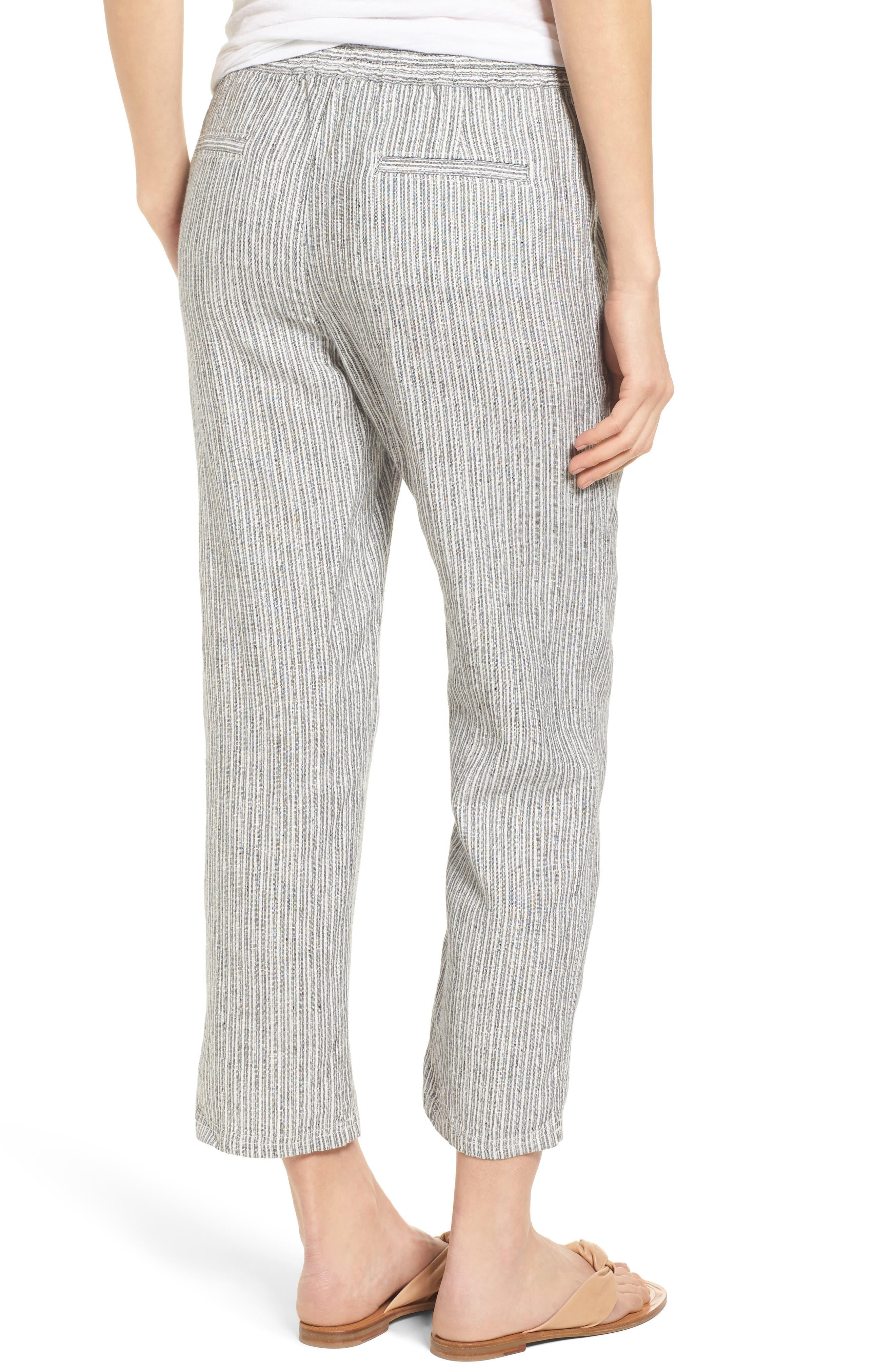 Linen Crop Pants,                             Alternate thumbnail 14, color,